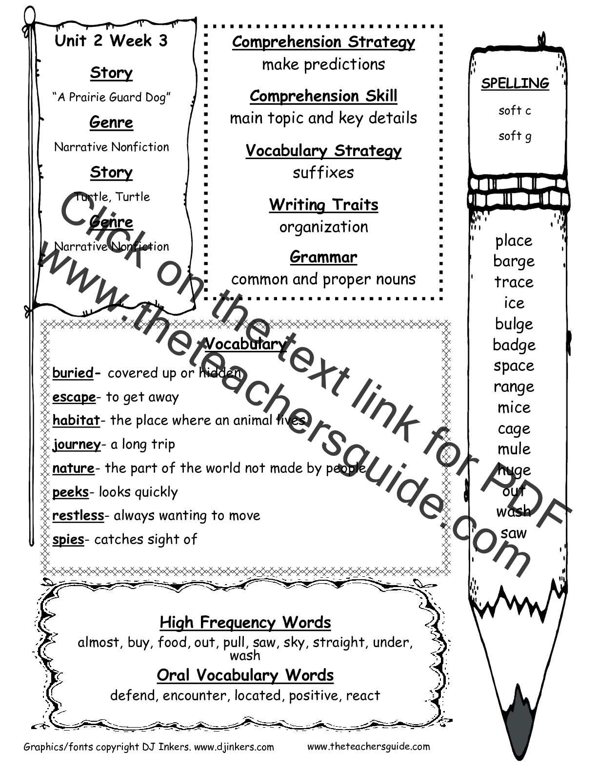 Second Grade Spelling Worksheets Wonders Second Grade Unit Two Week Three Printouts