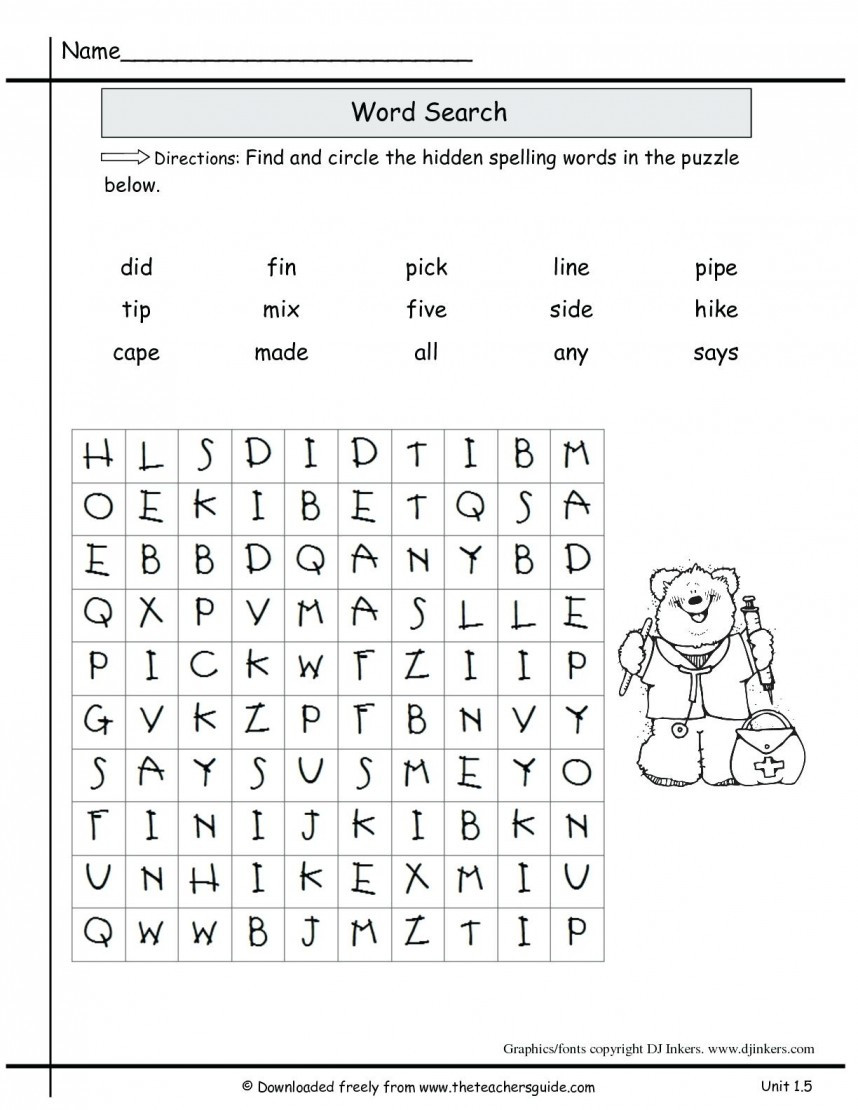 Second Grade Spelling Worksheets Worksheet Extraordinary Printables for 2nd Grade Image