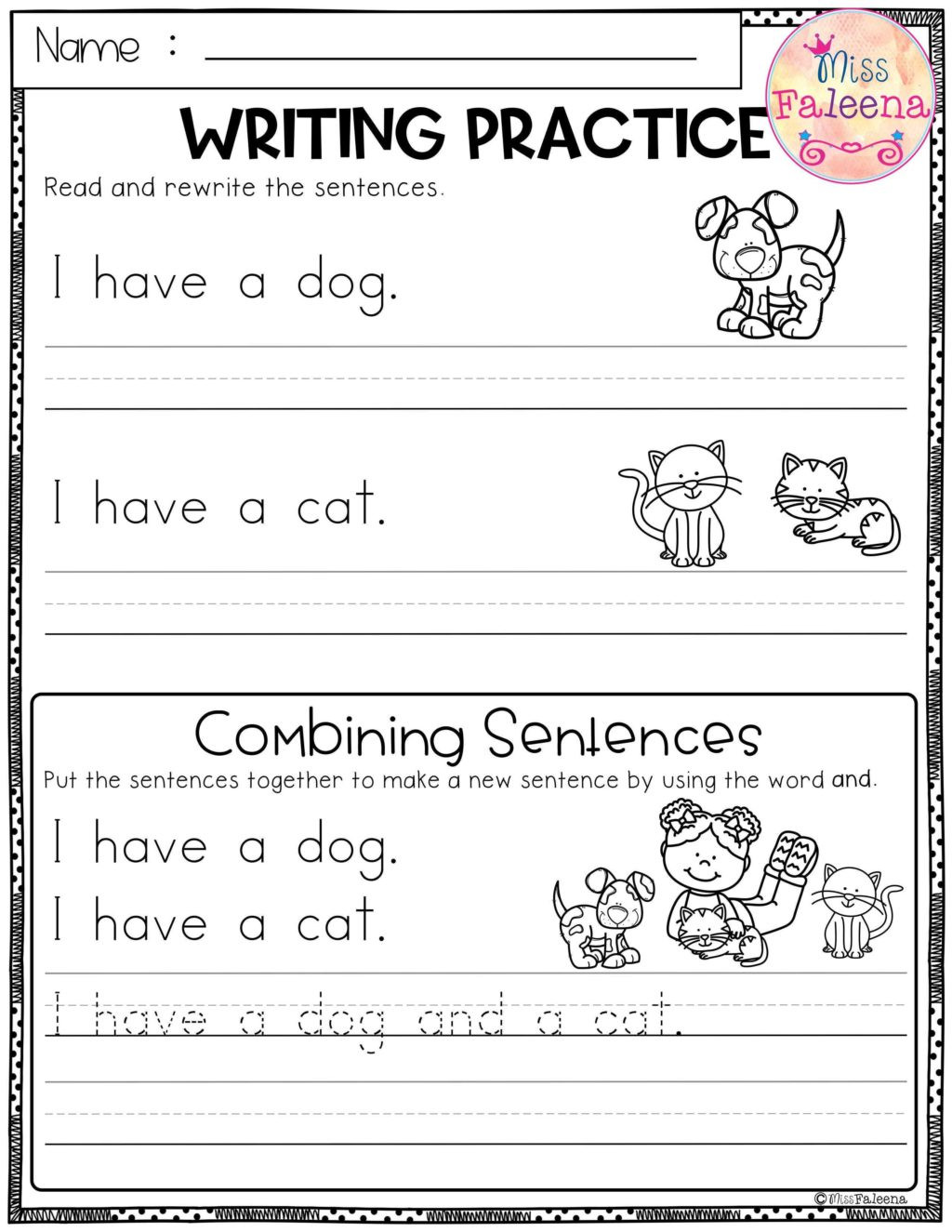 Sentence Worksheets First Grade Worksheet Writing Sentences Worksheets forst Grade Free