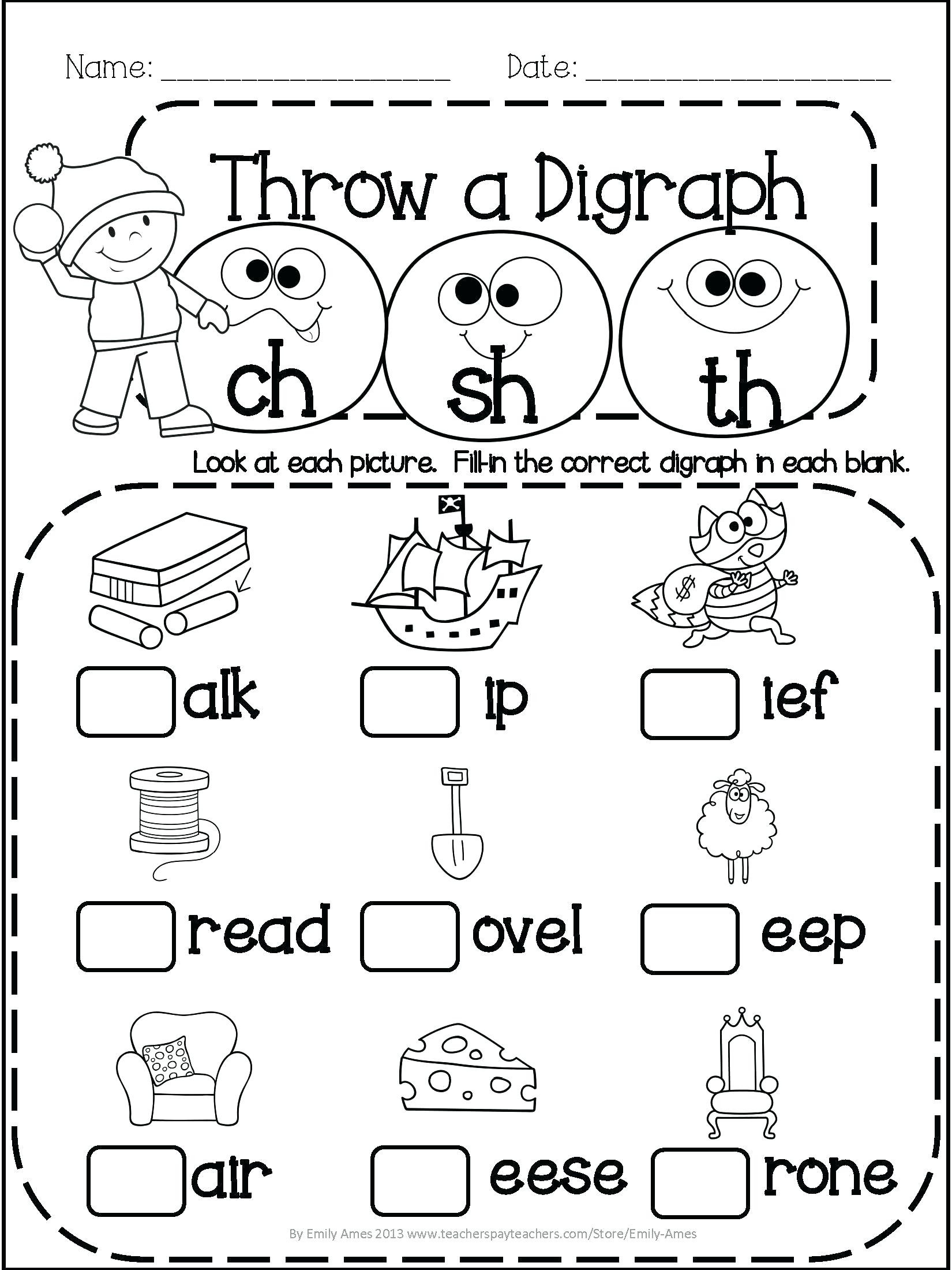 Sentence Worksheets for First Grade Worksheet Ideas 1st Grade Math and Literacy Printables April