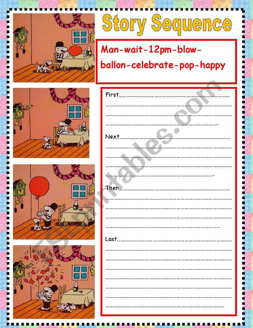 Sequencing events Worksheets Grade 6 Story Sequence Esl Worksheet by nora85