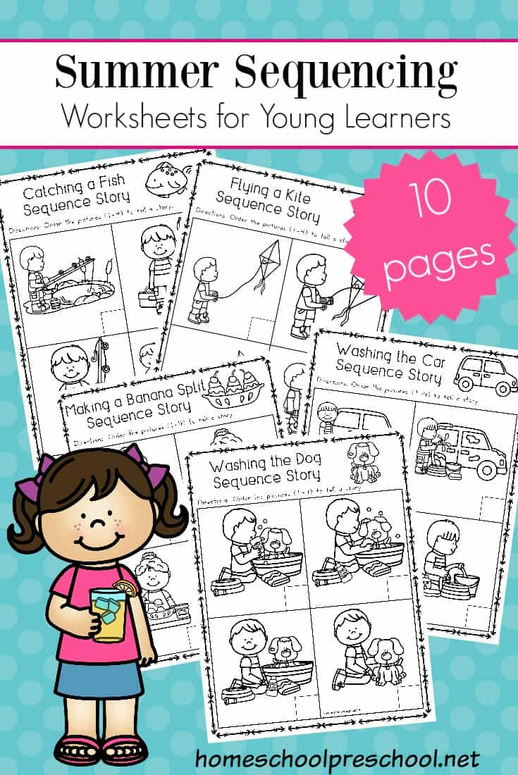 Sequencing Worksheets 2nd Grade Free Sequencing Worksheets for Summer Learning Cards Math