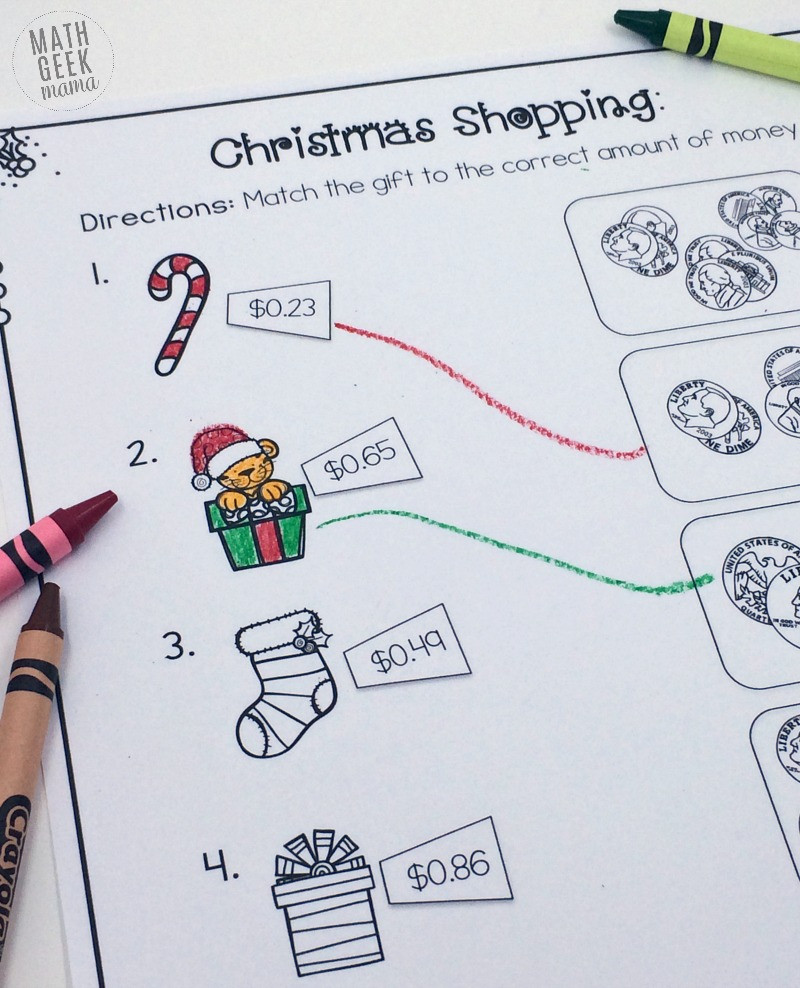 Shopping Math Worksheet Christmas Shopping Money Math Worksheets Free