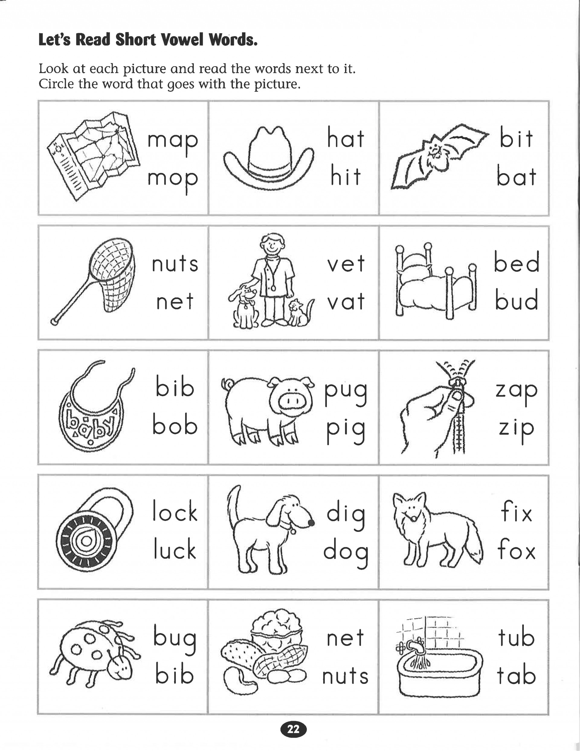 Short Vowel Worksheets 1st Grade First Grade Vowel Team Worksheets