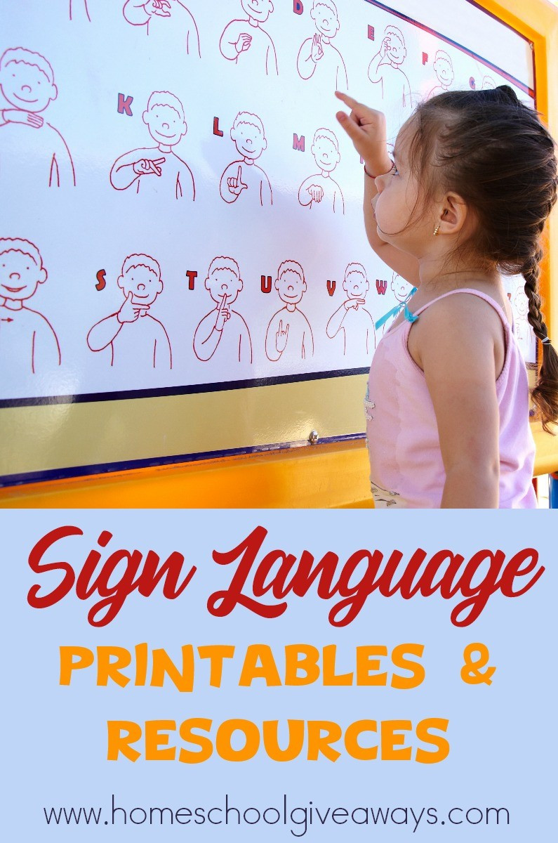 Sign Language Poster Printable Free Sign Language Printables and Resources Homeschool