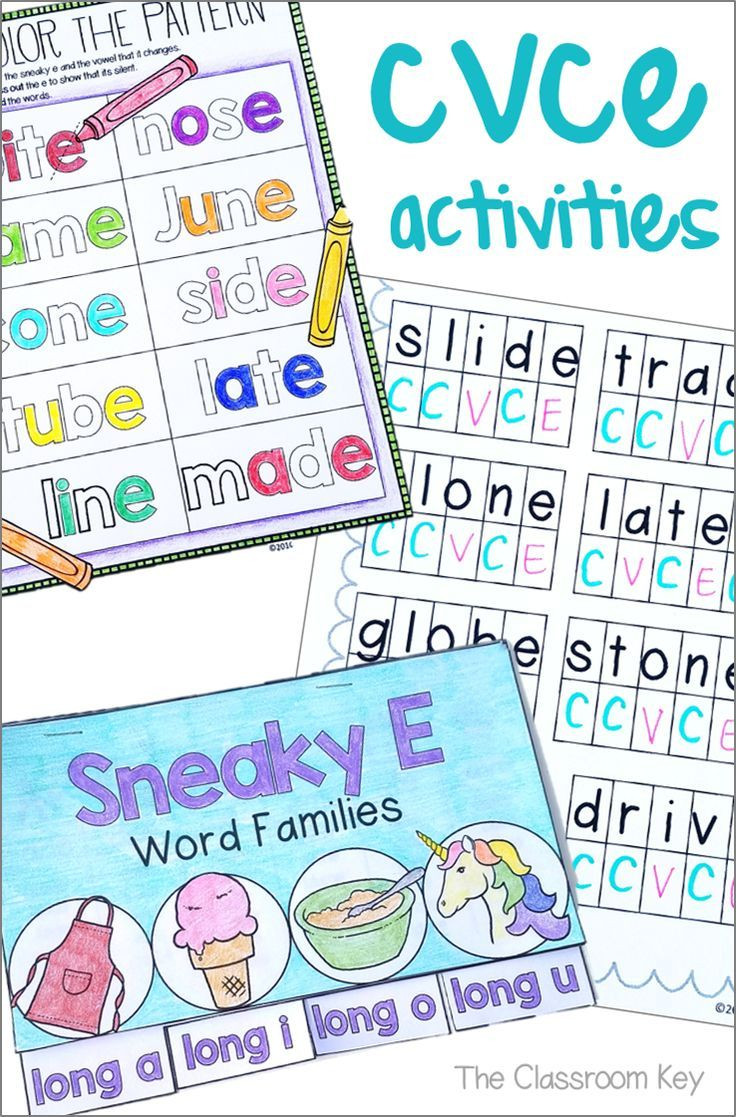 Silent E Worksheets 2nd Grade Cvce or Silent E Activities for 1st or 2nd Grade Phonics Rf