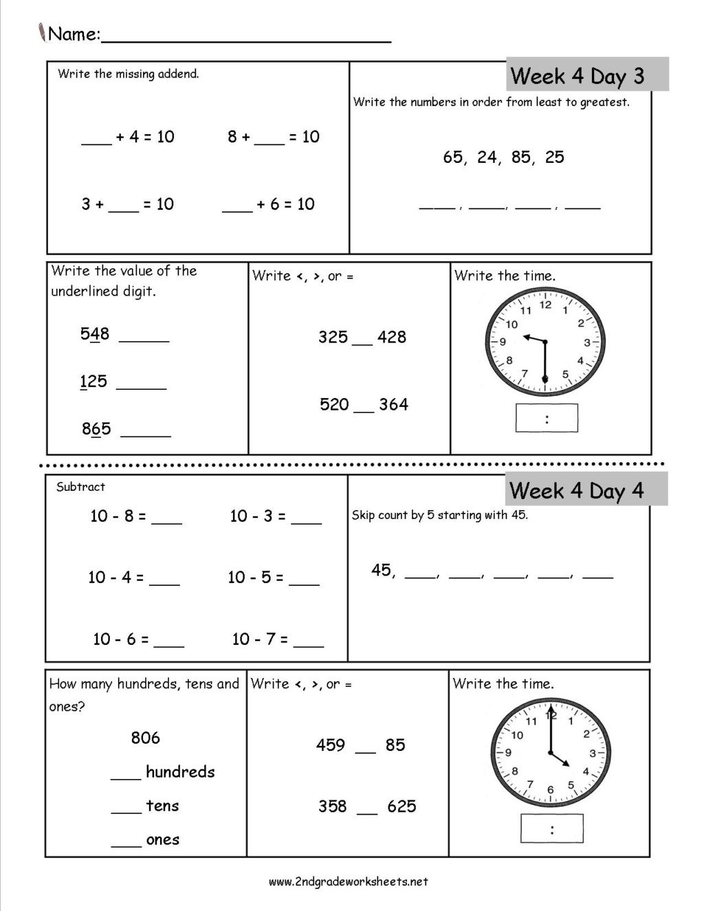 Skip Counting Worksheets 2nd Grade Worksheet 2nd Grade Daily Math Worksheets Third Free Fun