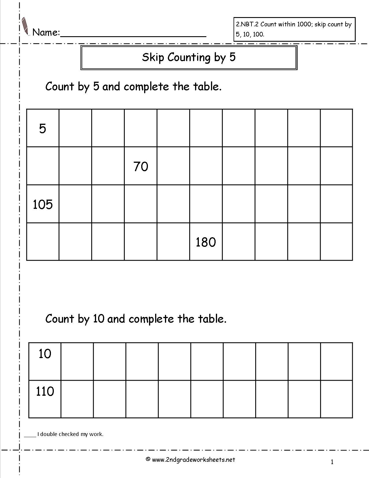 Skip Counting Worksheets 3rd Grade Blank Grid Printable Sixth Grade Math Worksheets Counting by