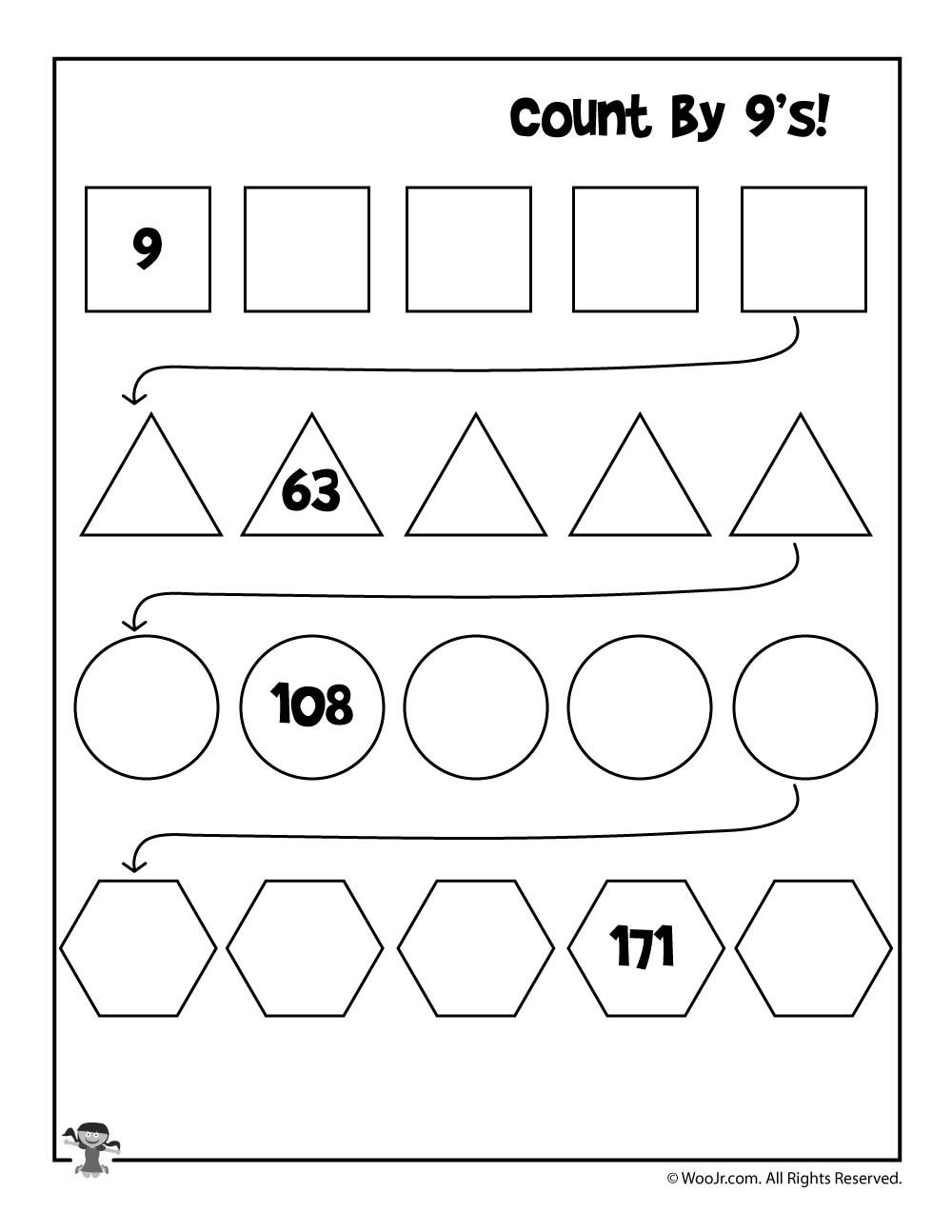 Skip Counting Worksheets 3rd Grade Simple Skip Counting Worksheets to Print