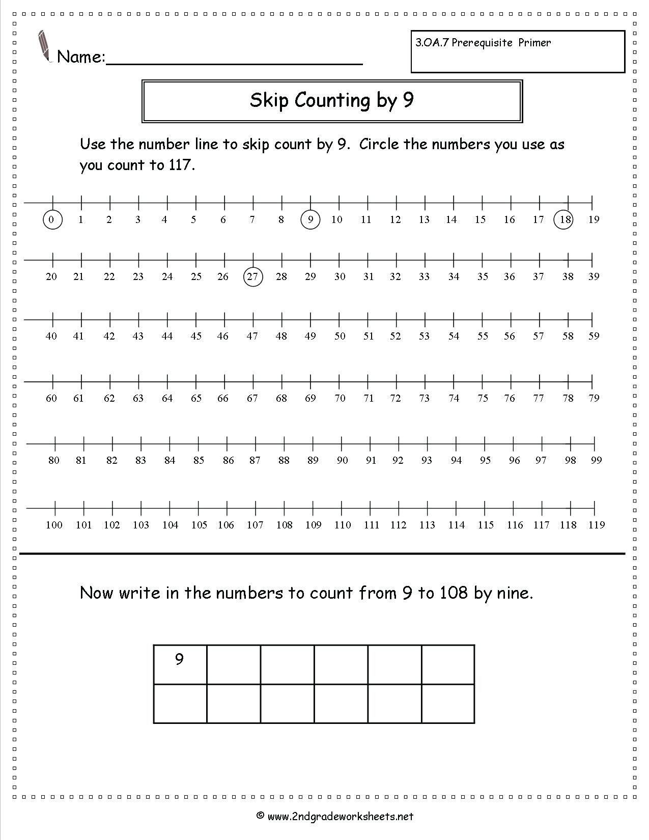 Skip Counting Worksheets First Grade 6th Grade Skip Counting Worksheet