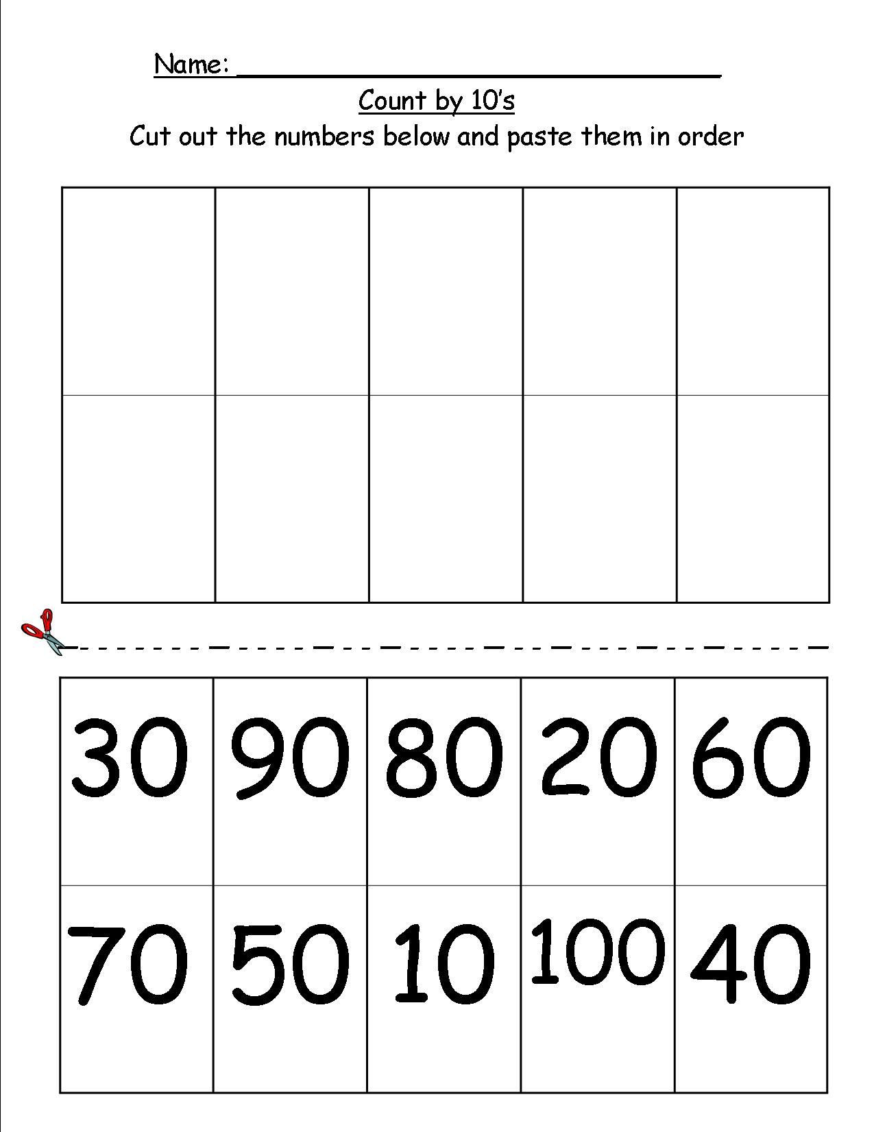Skip Counting Worksheets First Grade Copied A Handout and now It is Free Counting by 10 S