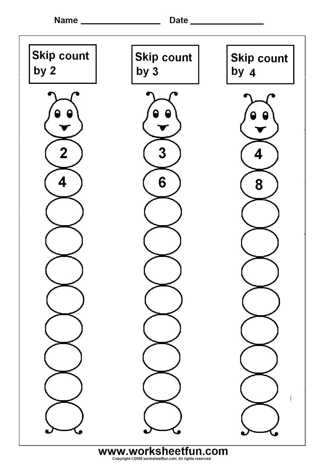 Skip Counting Worksheets First Grade Skip Counting