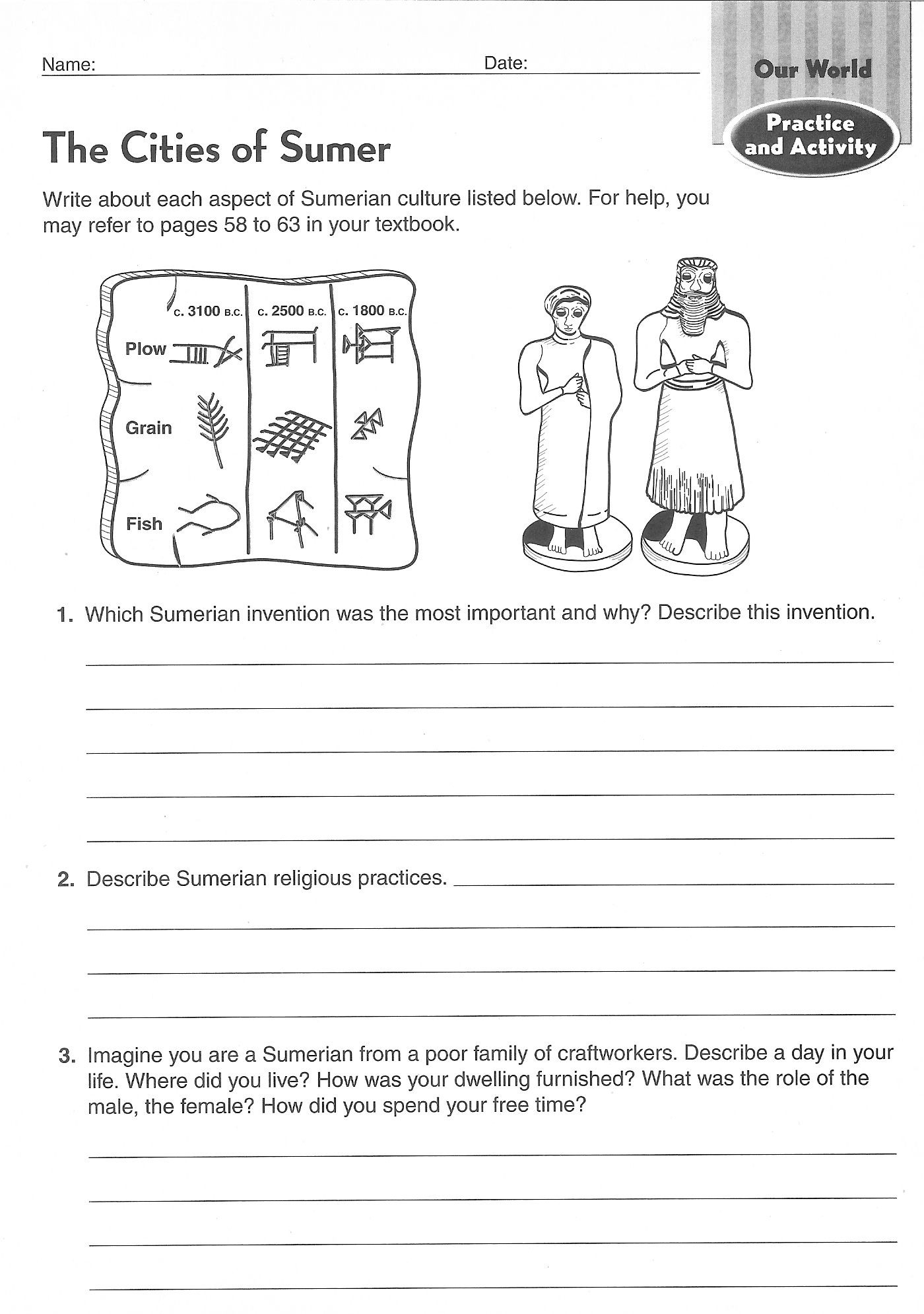 Social Studies Worksheets 8th Grade Ancient Civilizations Worksheets 6th Grade Google Search