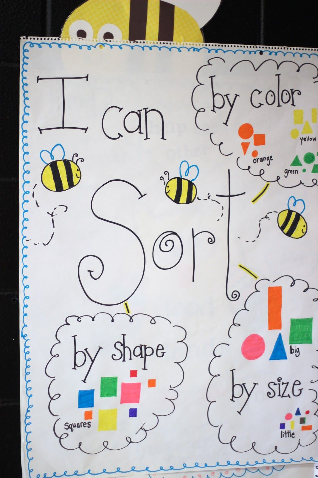 First Grade Blue Skies More Sorting Shapes & Freebie