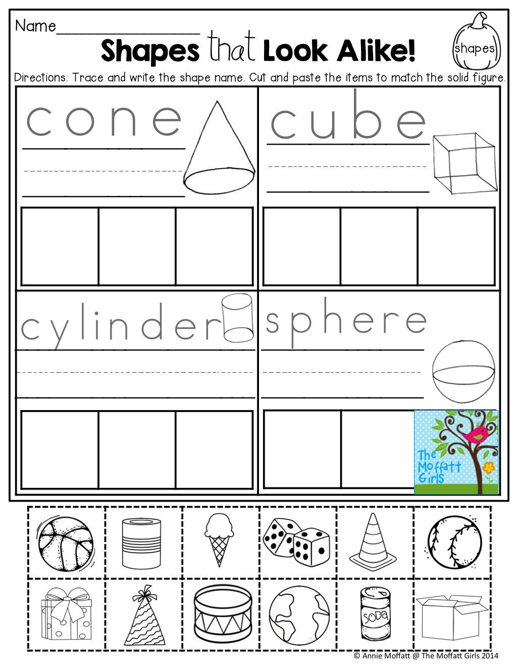 Sorting Shapes Worksheets First Grade Pin On Kindergarten Math