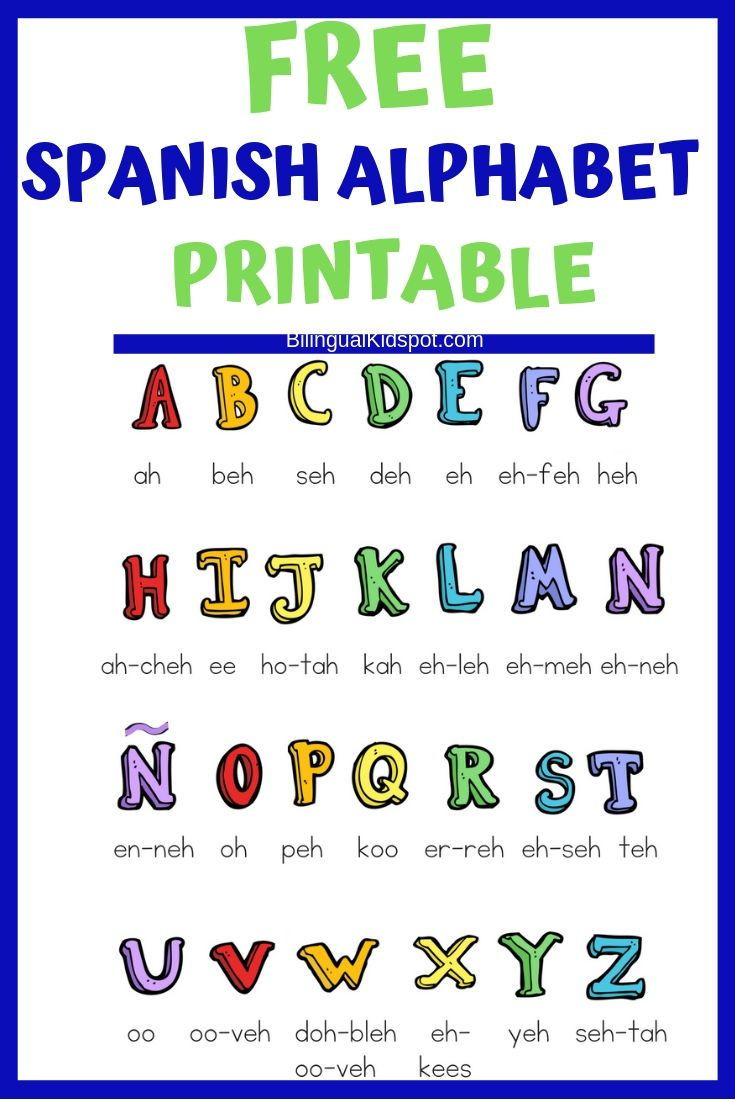 Spanish Alphabet Chart Printable Spanish for Kids Home Starter Kit with Printables to Teach