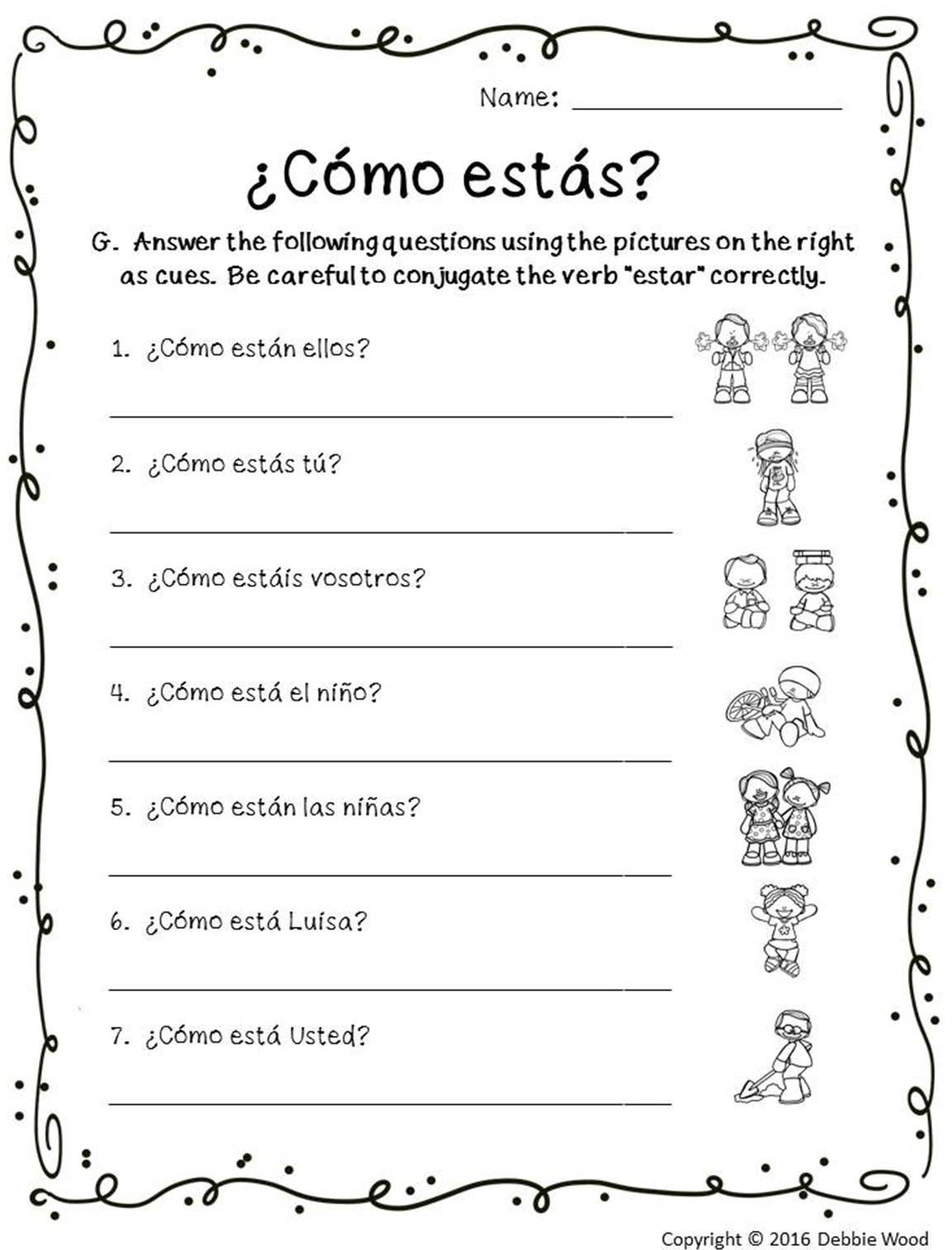 Spanish Verb Conjugation Worksheets Printable Spanish Verb Querer Worksheet