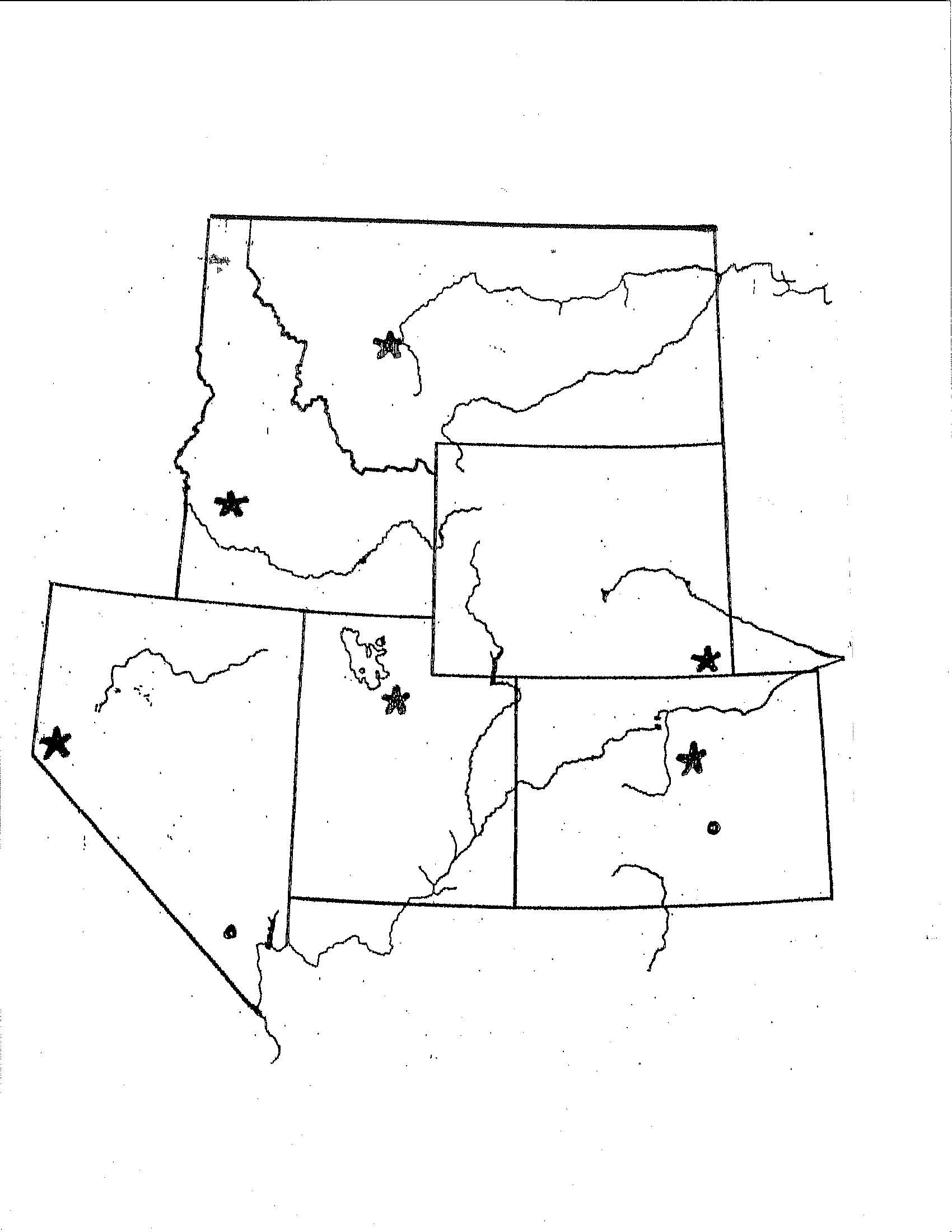 State Capitals Printable Quiz States