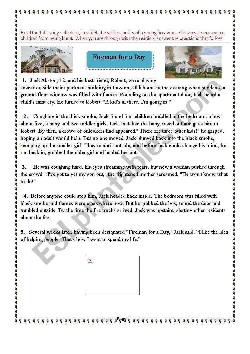 Story Elements Worksheet 5th Grade 5th form Reading Exam About Story Elements and Character´s