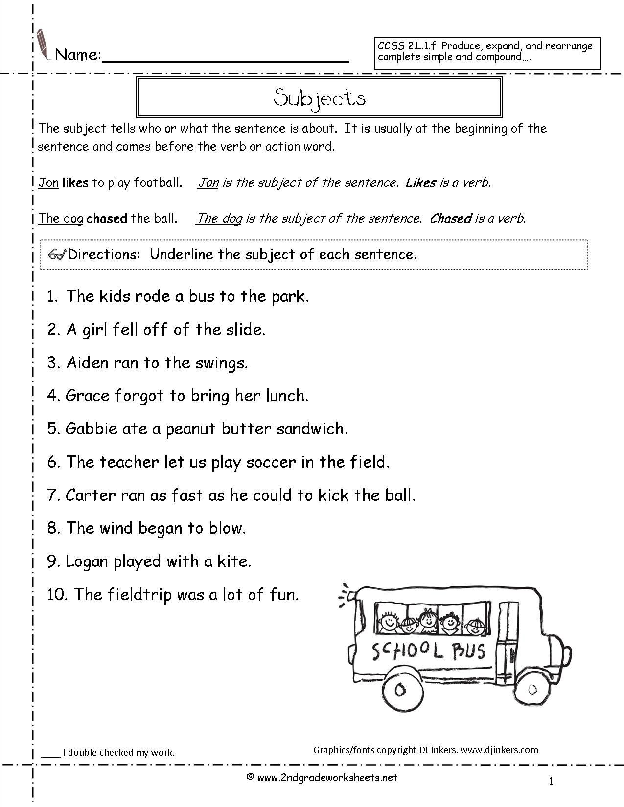 Subject Predicate Worksheet 6th Grade Image Result for Let S Make A Sentence with Into Worksheet