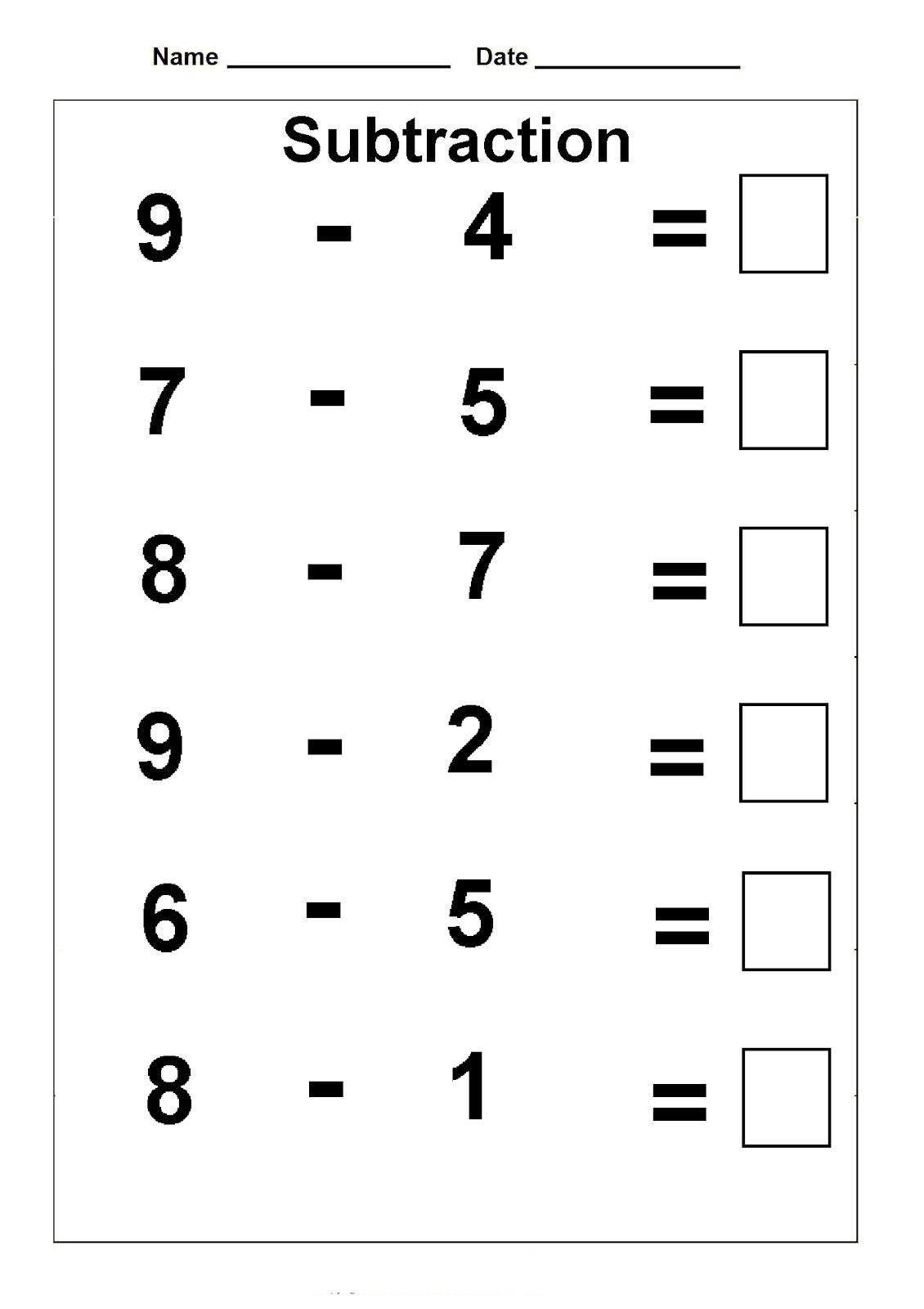 Subtraction Worksheet for 1st Grade 1st Grade Math Worksheets Best Coloring Pages for Kids
