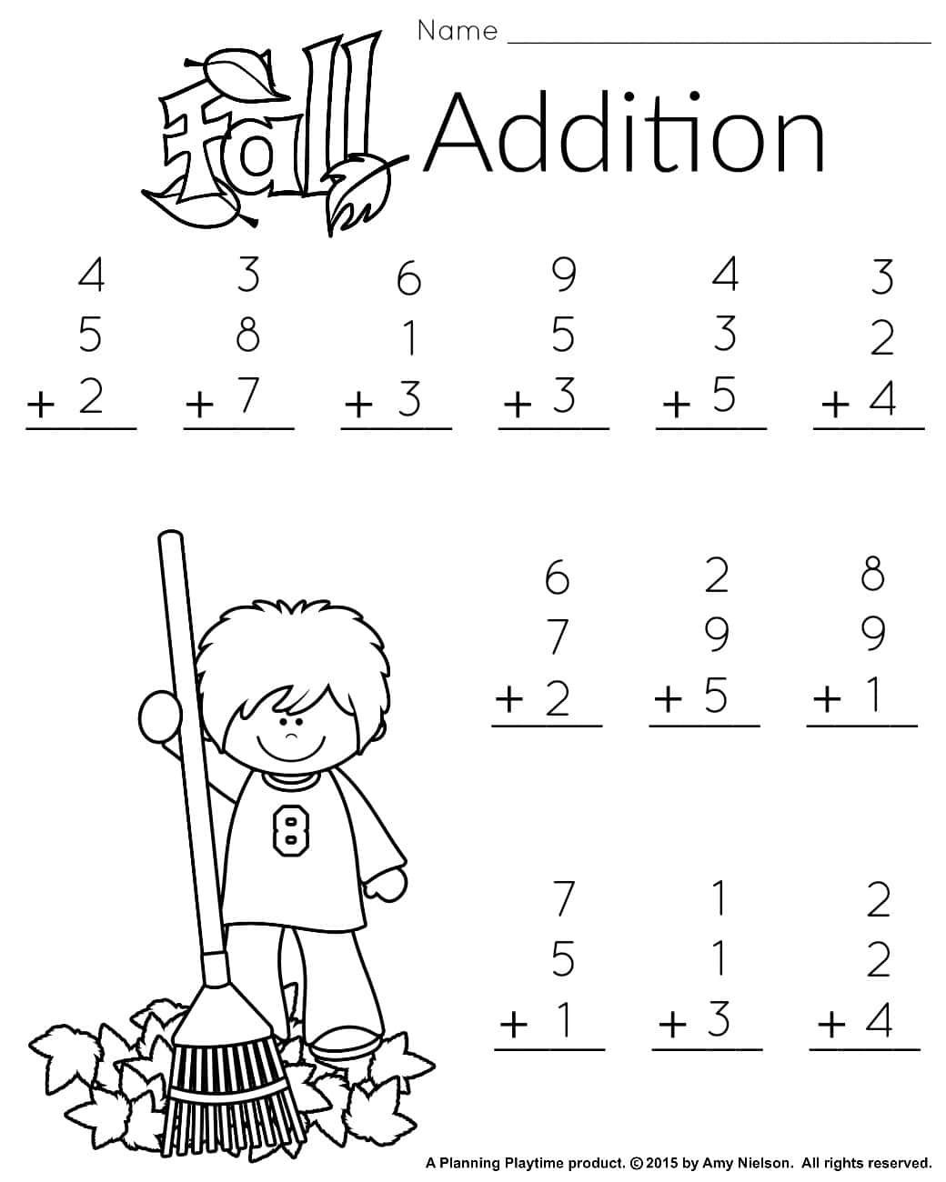 Subtraction Worksheet for 1st Grade Free Printable Math Worksheets for Grade 1 and 2