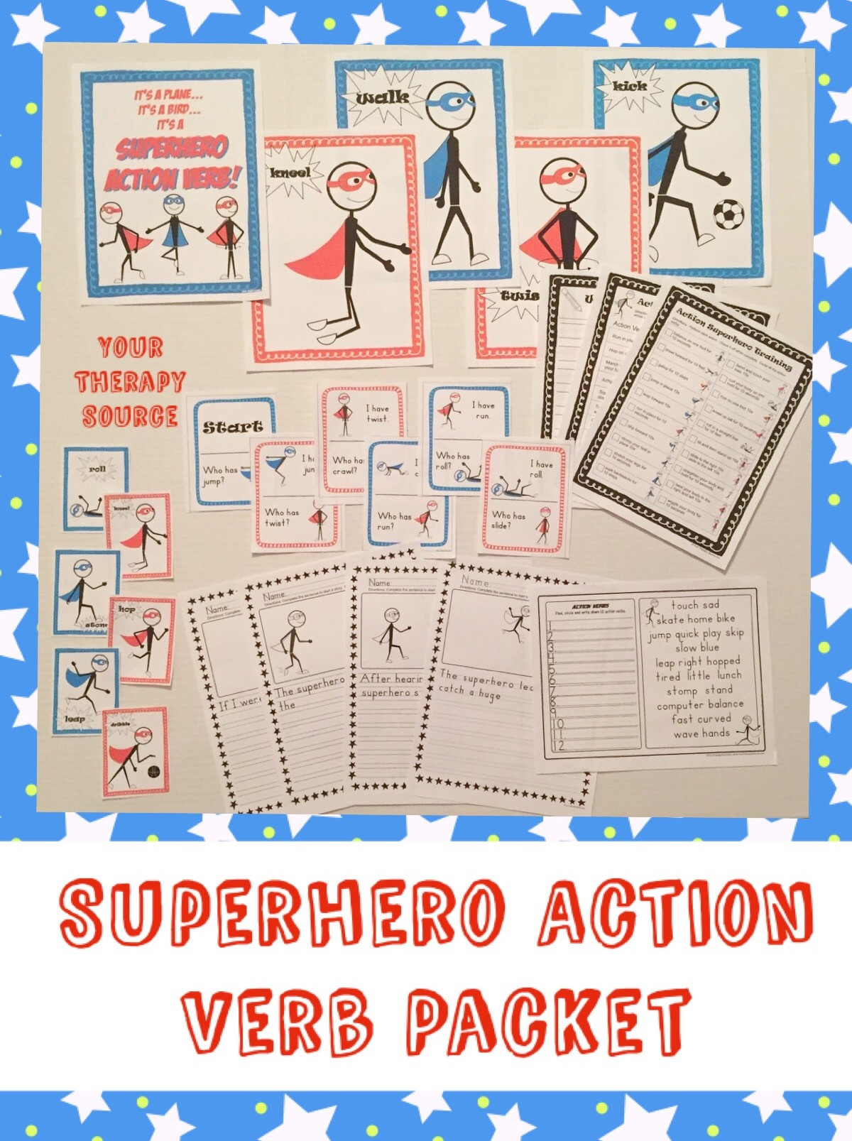 Superhero Word Search Printable Superhero Action Verbs