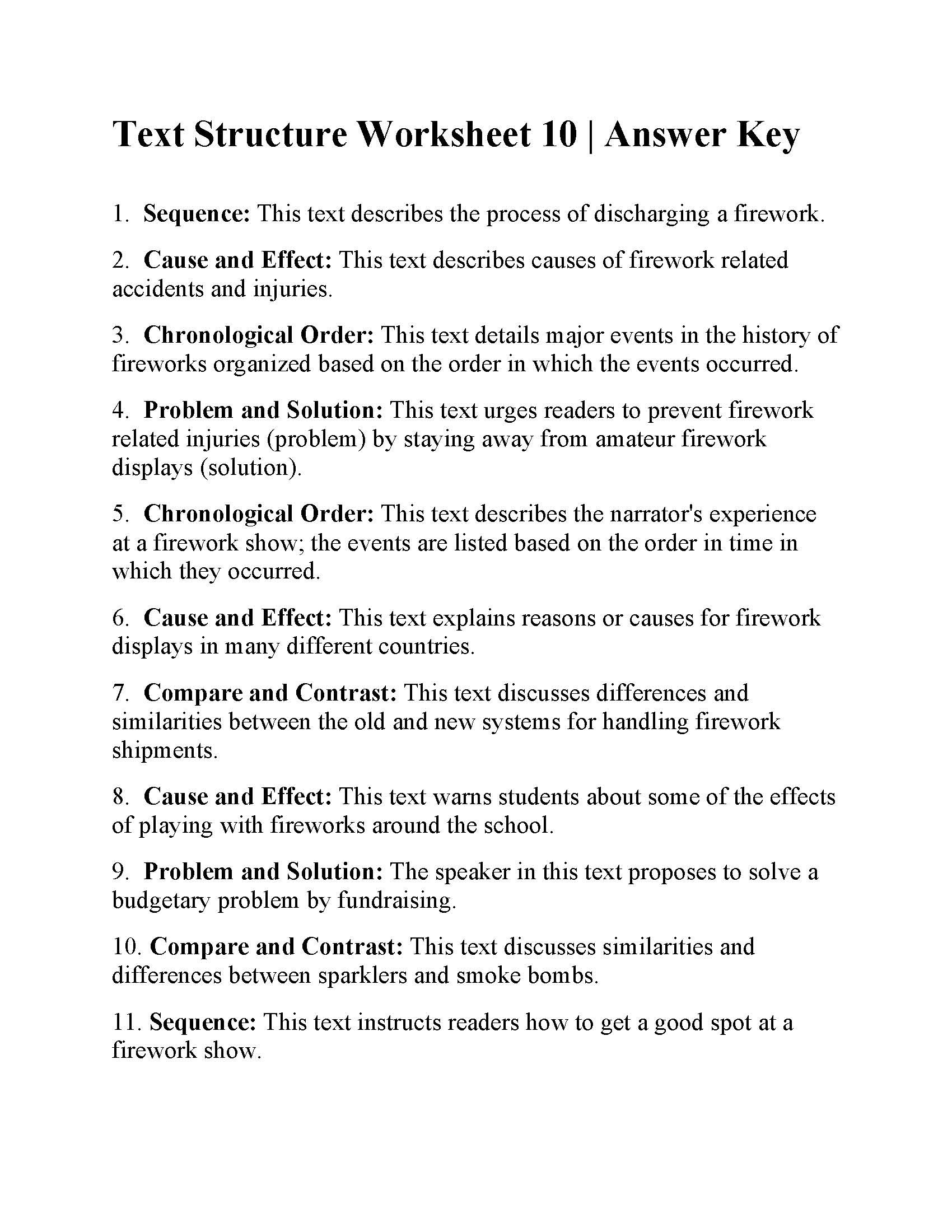 Text Structure 5th Grade Worksheets Telling Time Word Problems Worksheets Main Idea Multiple