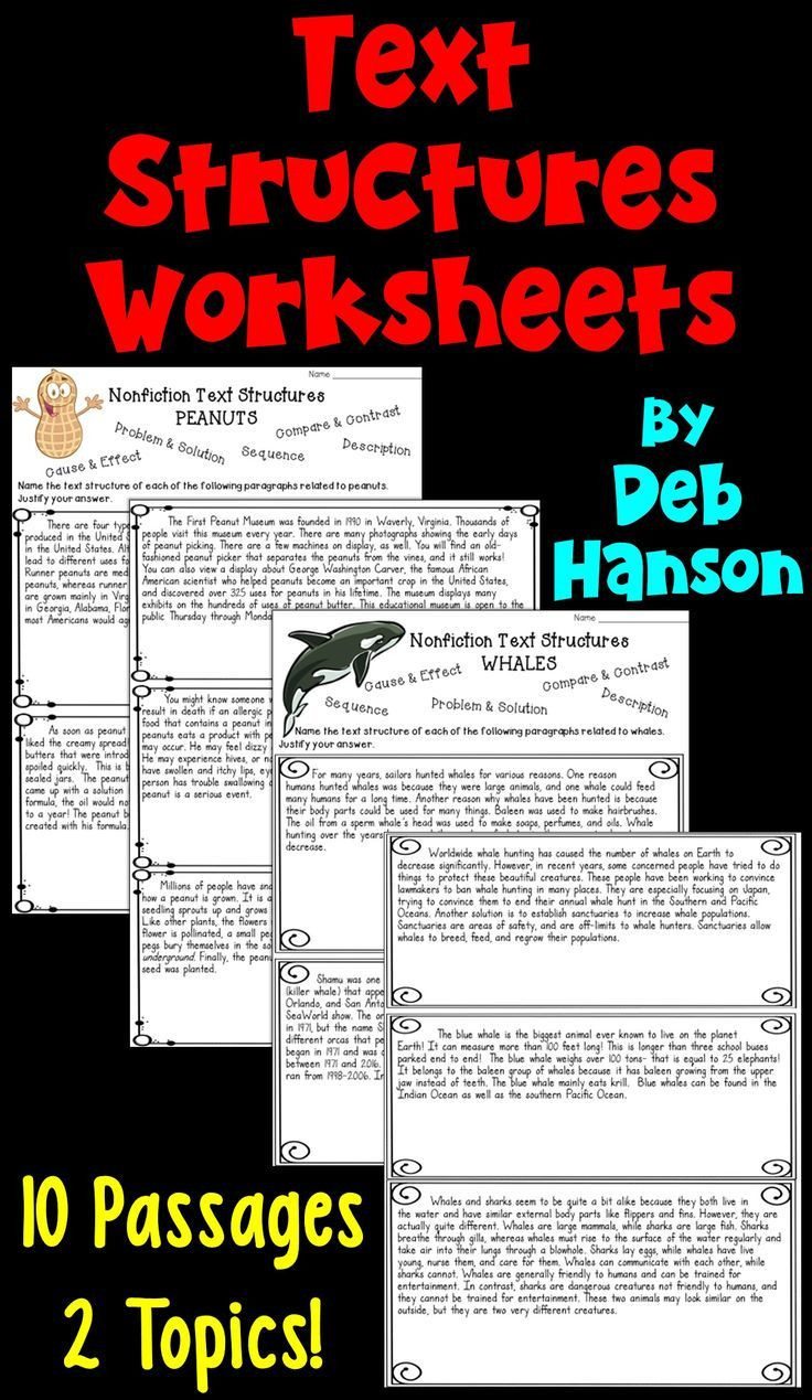 Text Structure Worksheets 4th Grade Informational Text Structures Two Worksheets