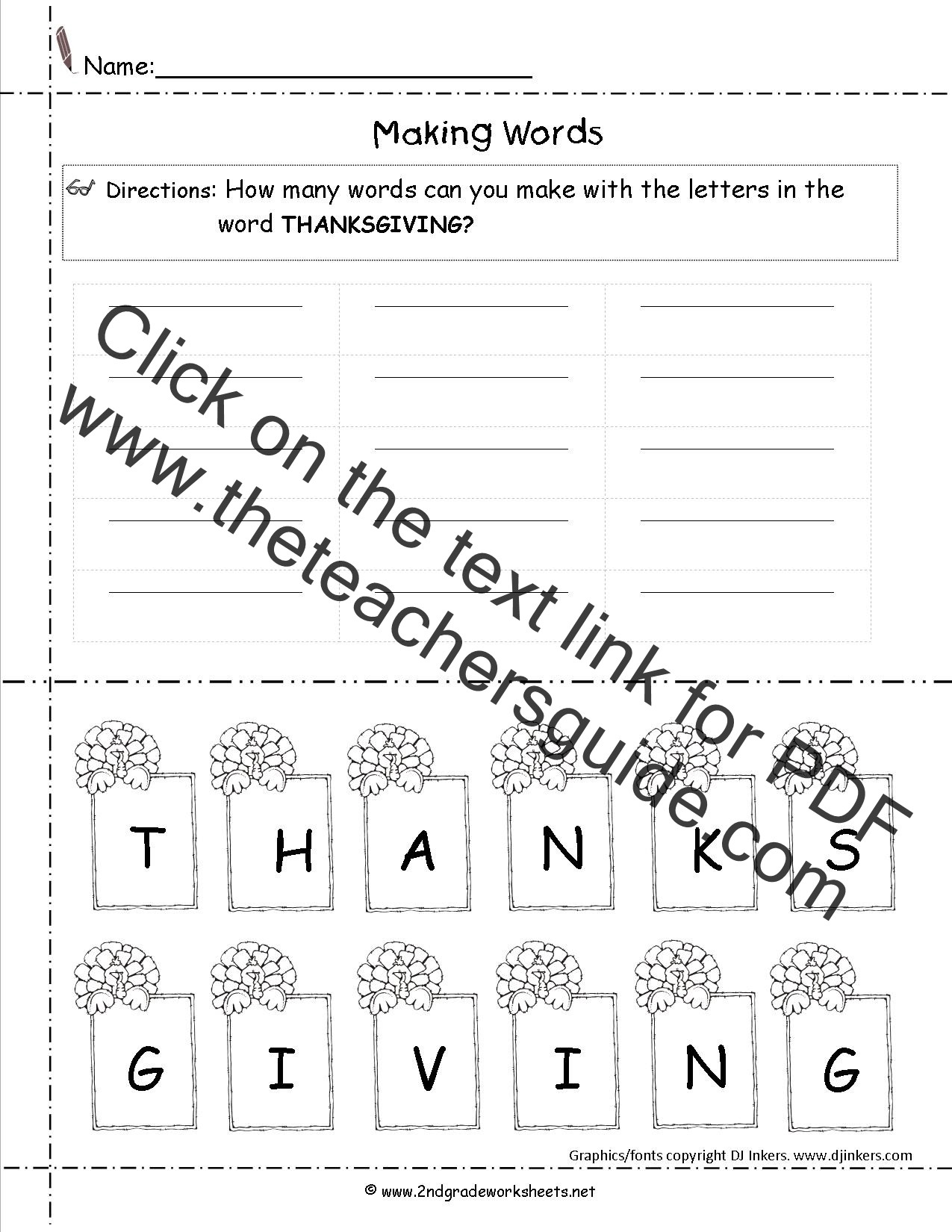 Thanksgiving Math Worksheets 5th Grade Thanksgiving Printouts and Worksheets Free Math for Second