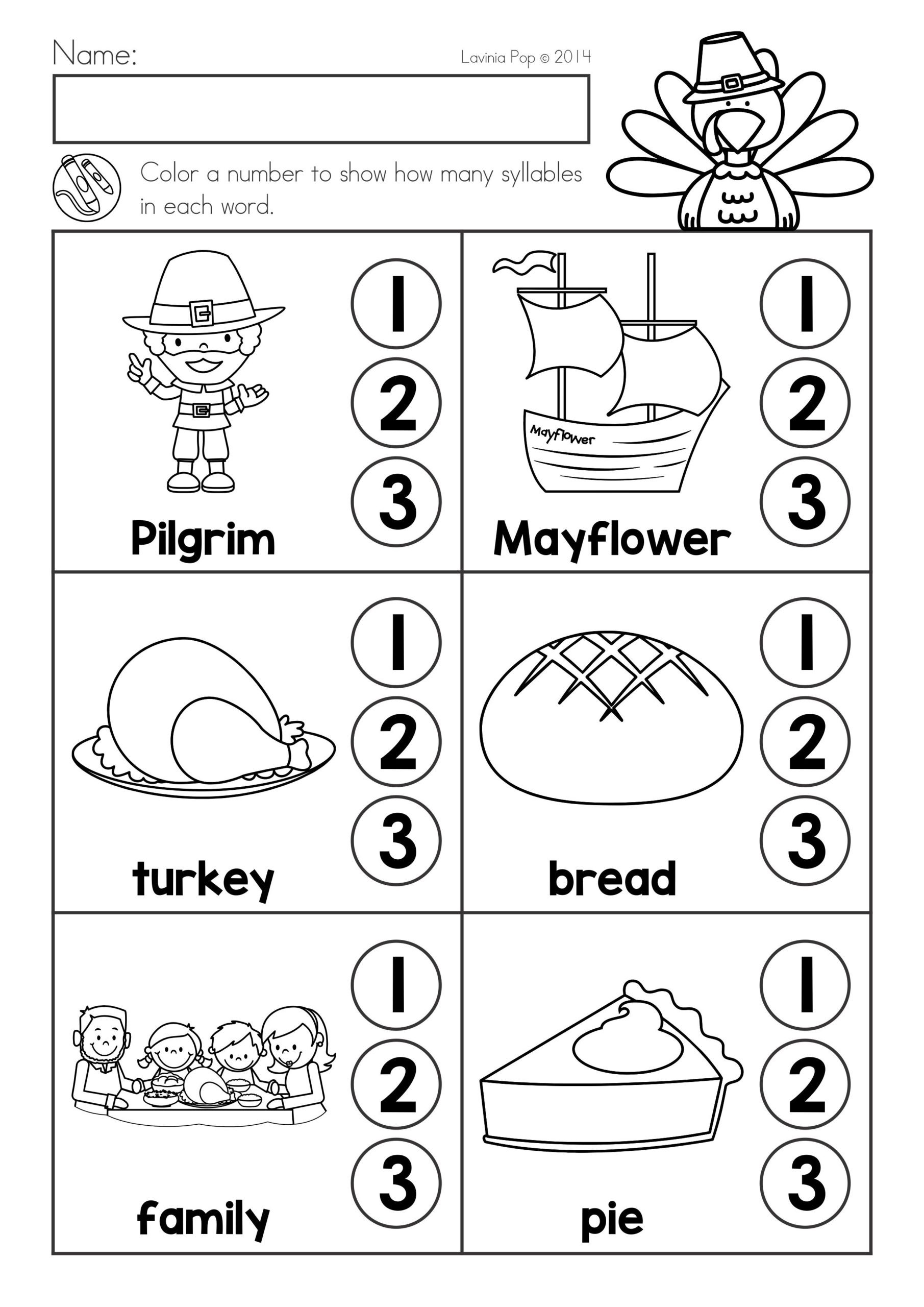 Thanksgiving Math Worksheets Middle School Thanksgiving Math Literacy Worksheets and Activities Phonics