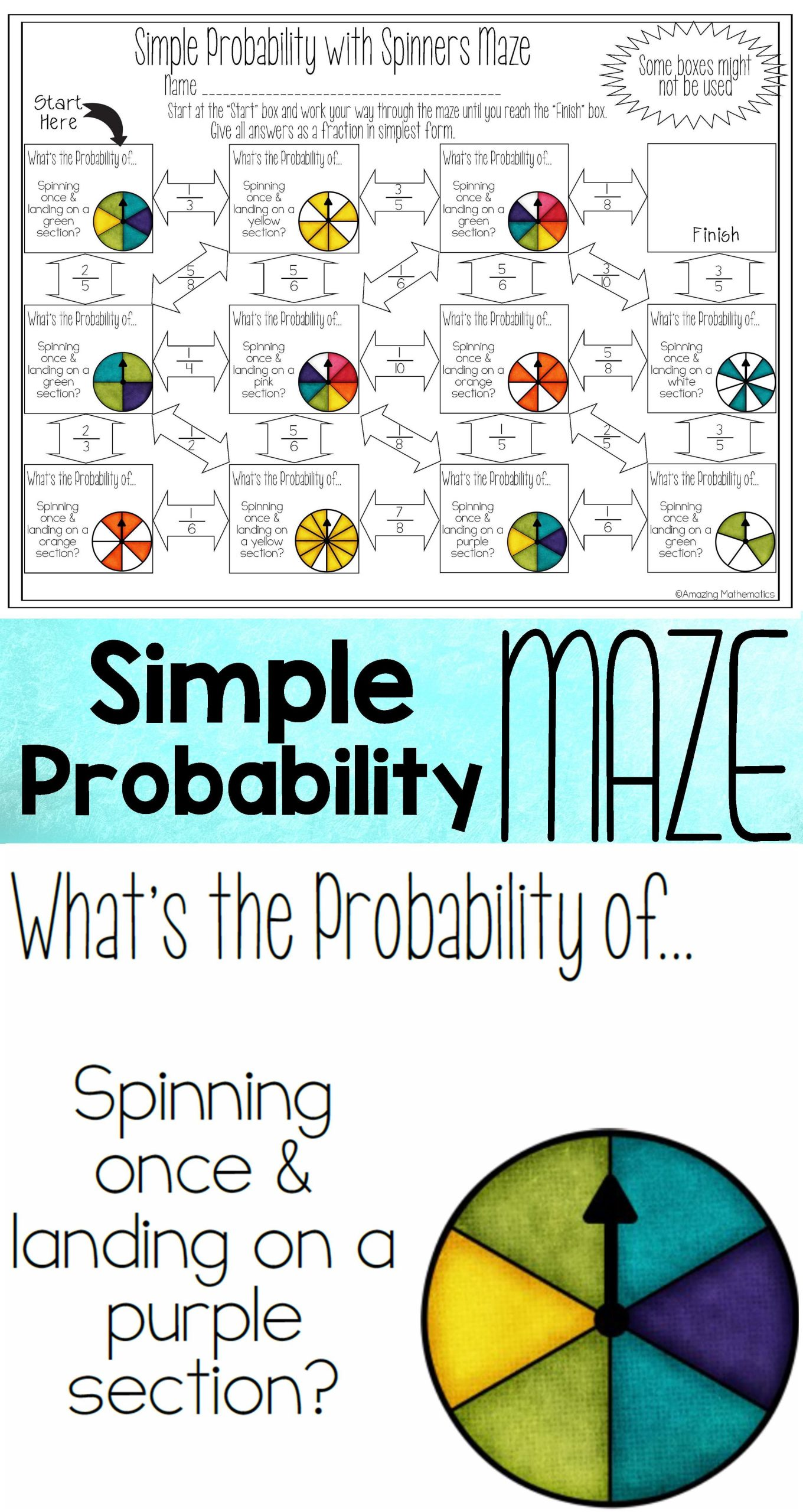 Theoretical Probability Worksheets 7th Grade My 7th Grade Math Students Loved This Probability Worksheet
