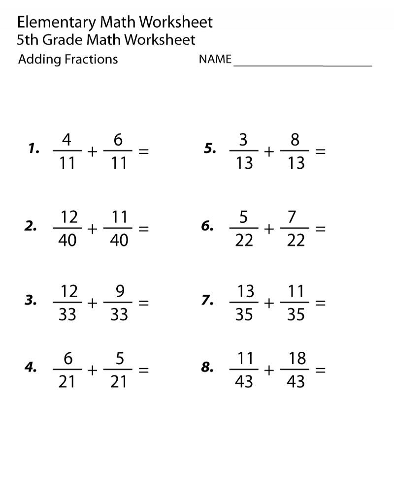 Variables Worksheets 5th Grade 5th Grade Math Worksheets Fractions