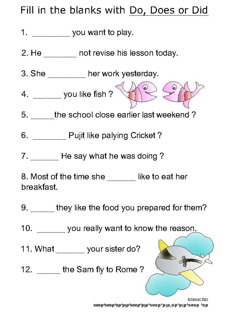 Verbs Worksheets for Middle School Helping Verb Worksheets for Do Does Did