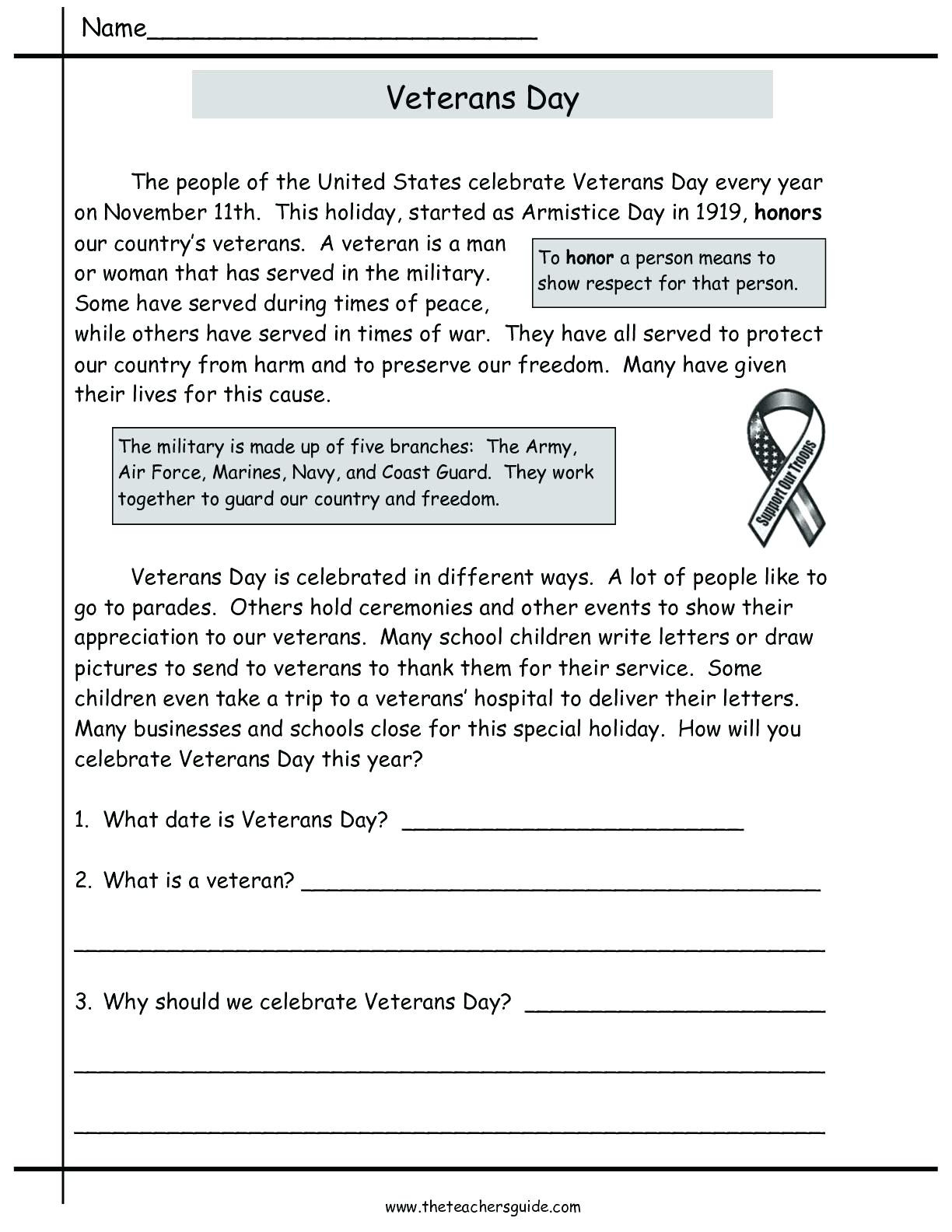 Veterans Day Math Worksheets Veterans Day Worksheets for Print Veterans Day Worksheets