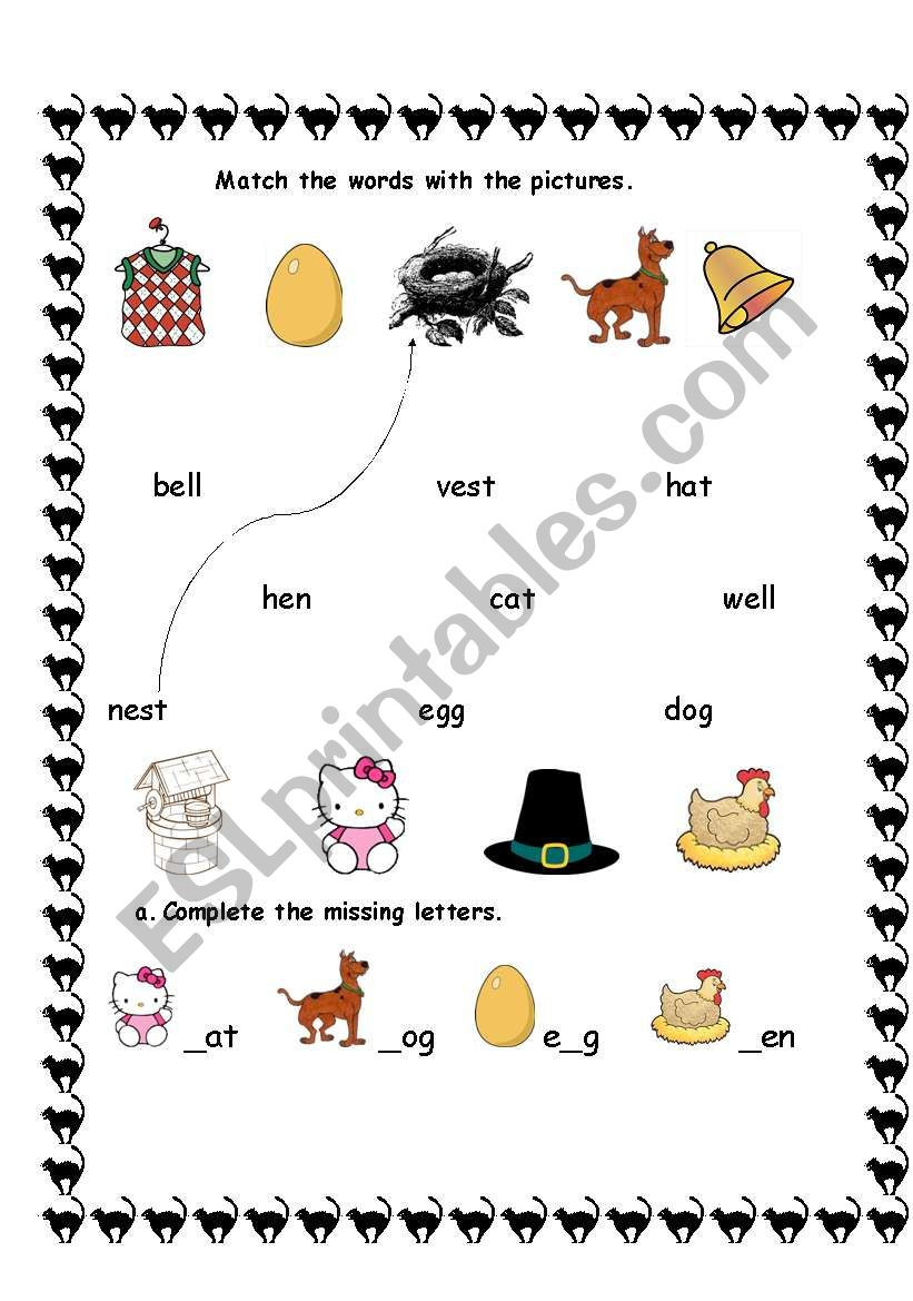 English worksheets 1st GRADE VOCABULARY SHEET