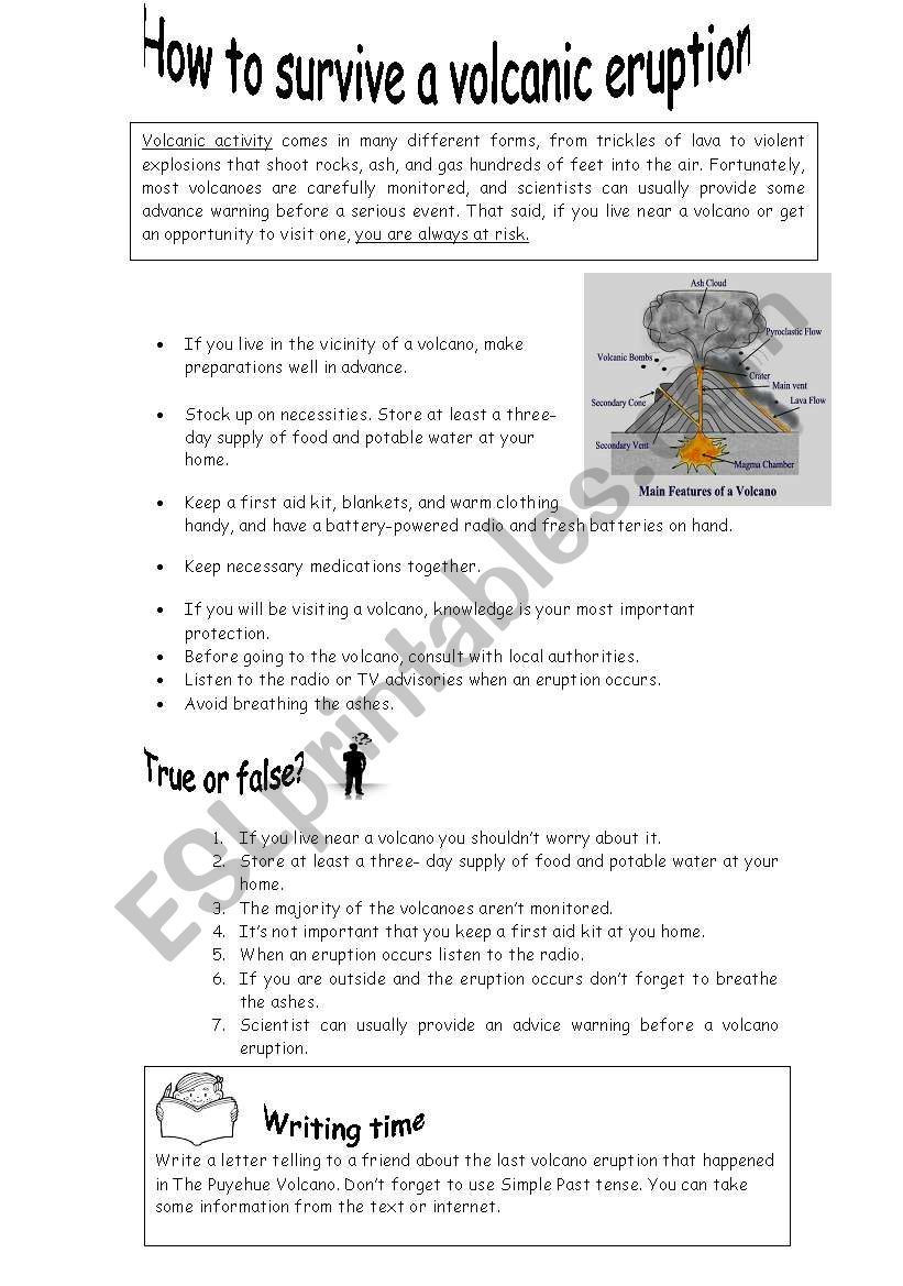 Volcano Worksheets High School I Used It Last Week with My 6th form Students