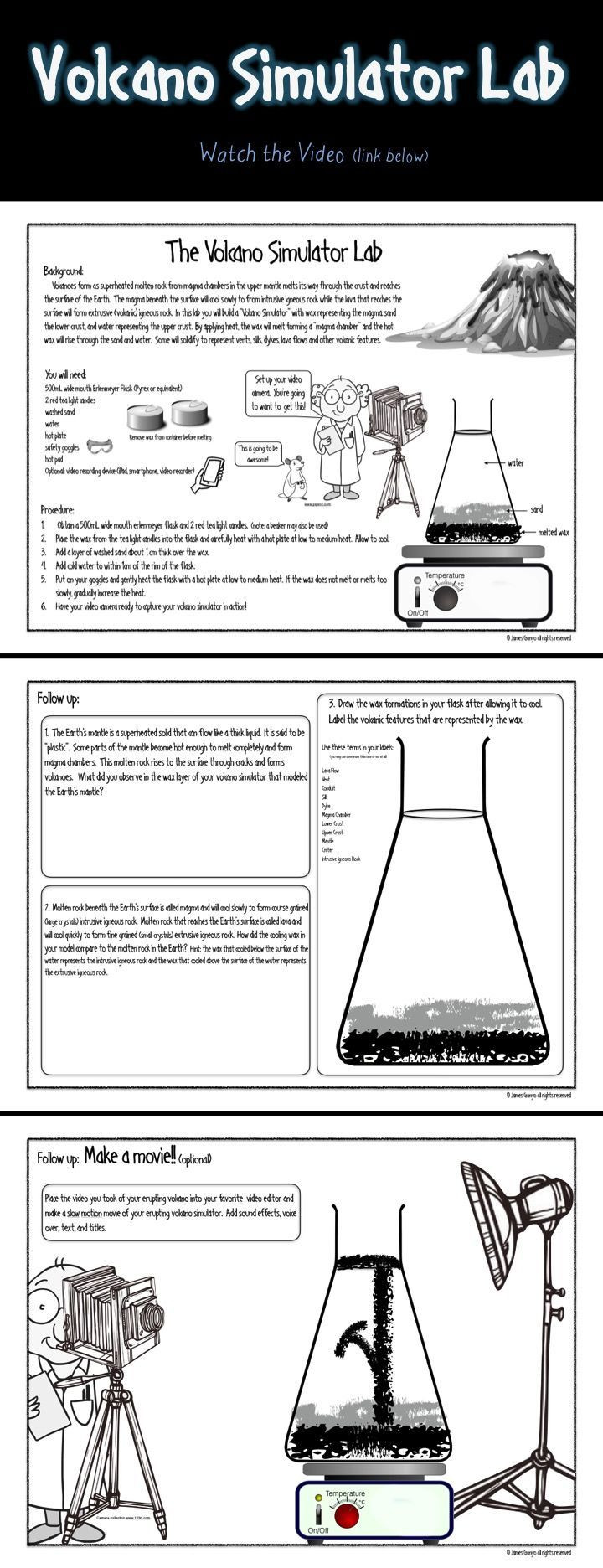 Volcano Worksheets High School Volcano Simulator Lab