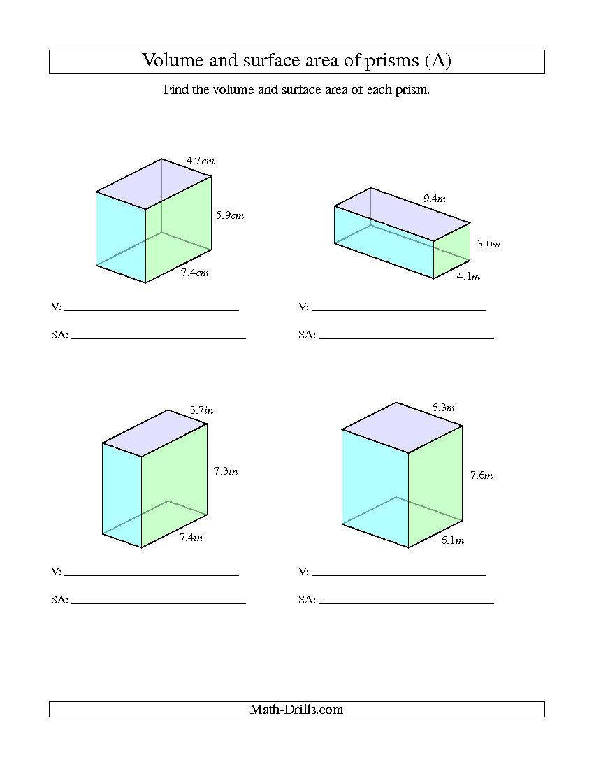 Volume Worksheet 4th Grade Improved 2013 11 17 Volume and Surface area Of Rectangular