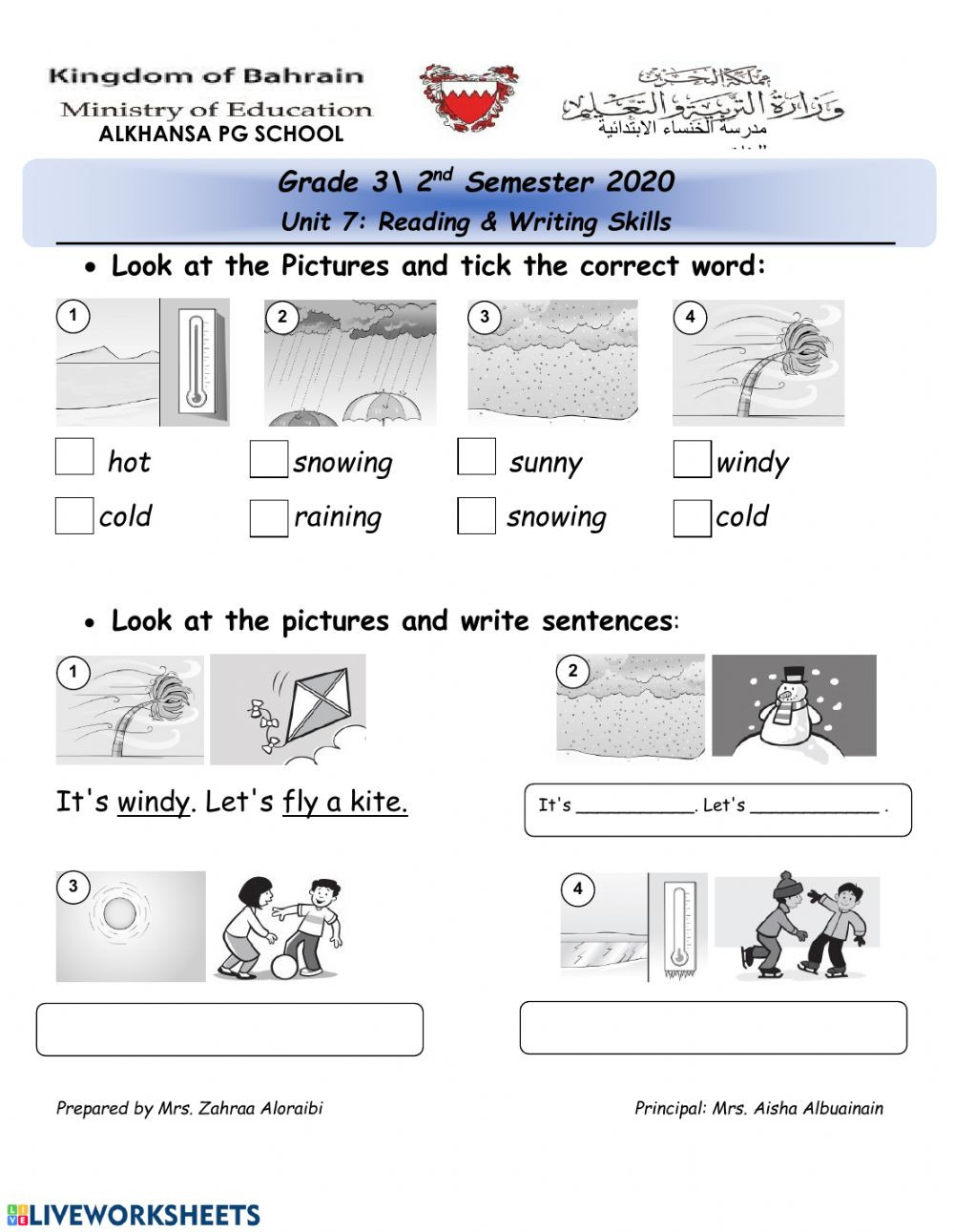 Weather Worksheets for 3rd Grade Weather Vocabulary Interactive Worksheet