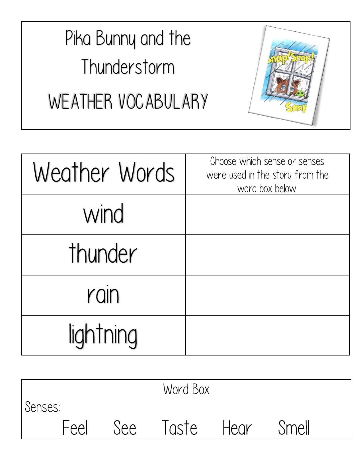 Weather Worksheets for First Graders Free Weather Worksheet for Teachers and Homeschool for