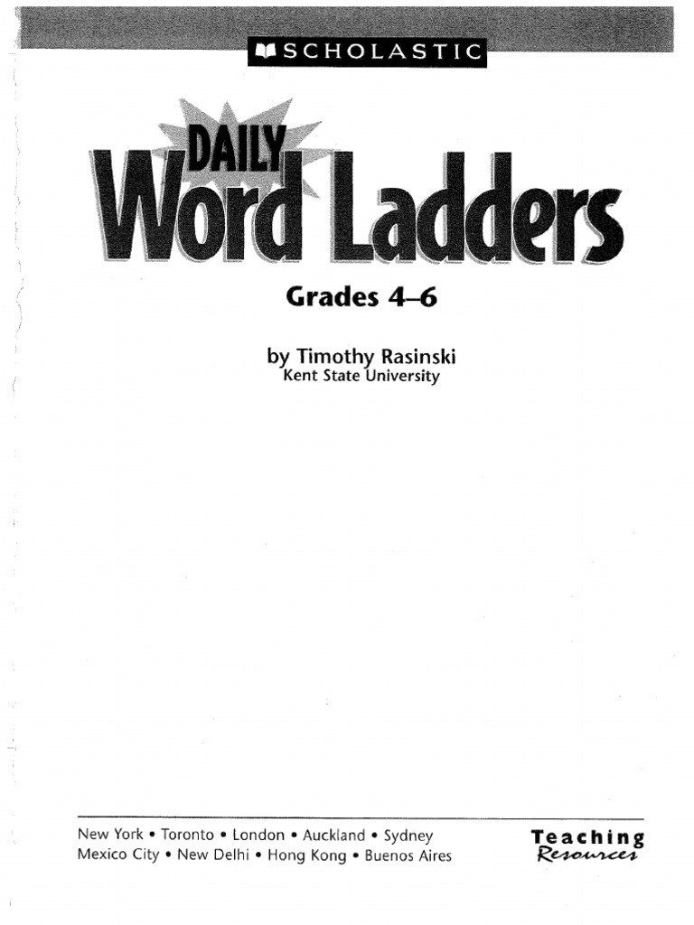Word Ladders Middle School Ladder