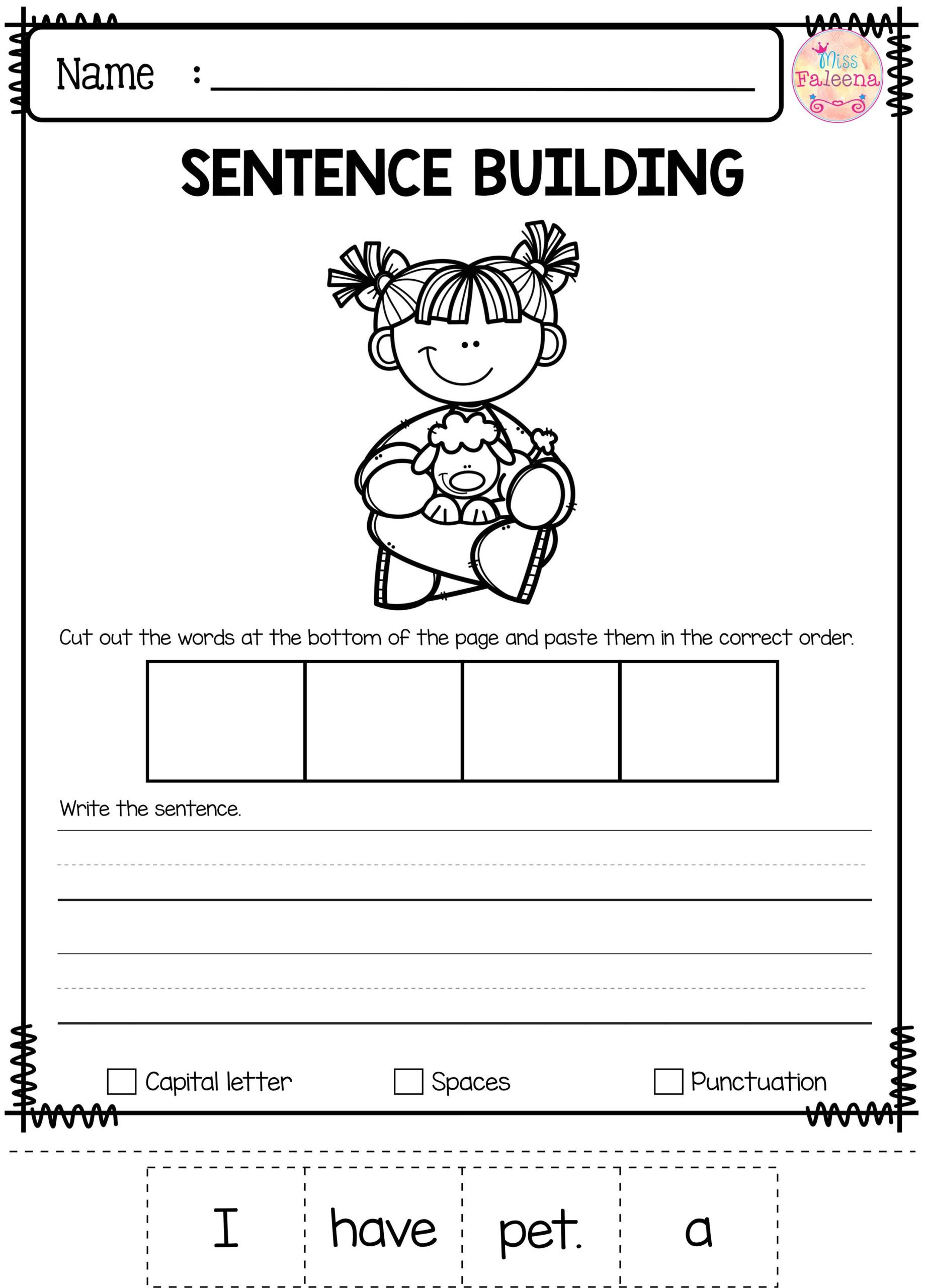 Worksheets for First Grade Writing 2nd Grade Kindergarden School Paring Objects Worksheets