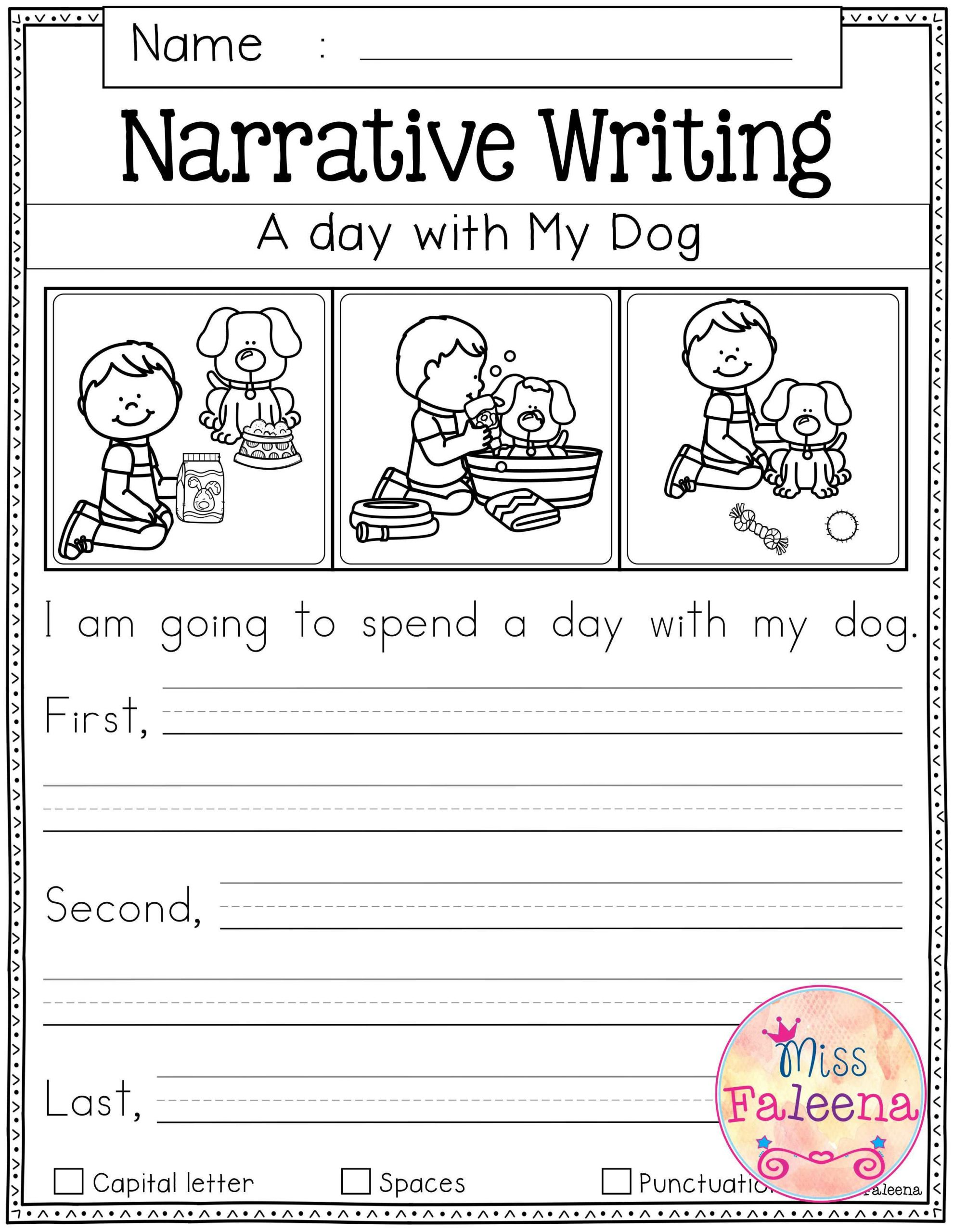 Worksheets for First Grade Writing Free Writing Prompts