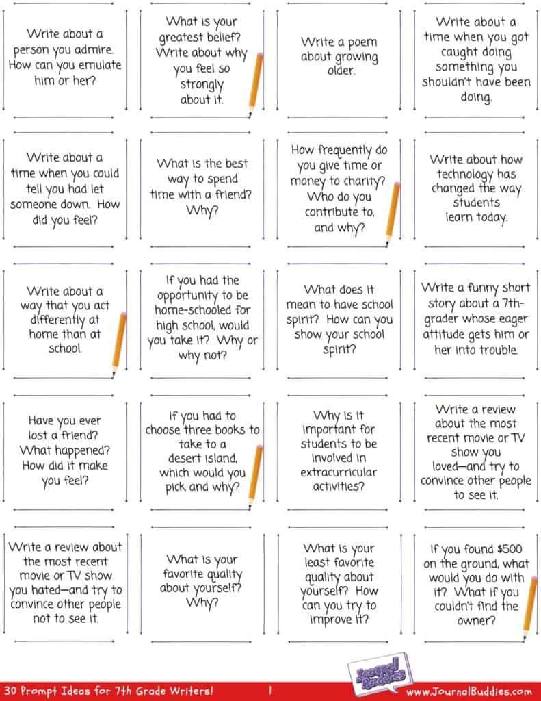 7th Grade Writing Worksheets in 2020