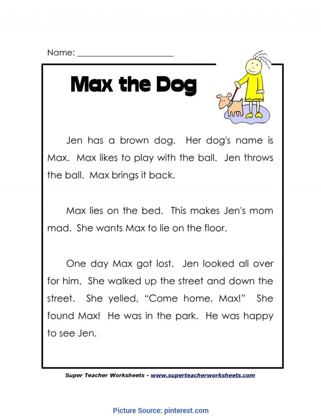 1st Grade Reading Worksheets Printable Worksheet Independent Reading Worksheets Printable and