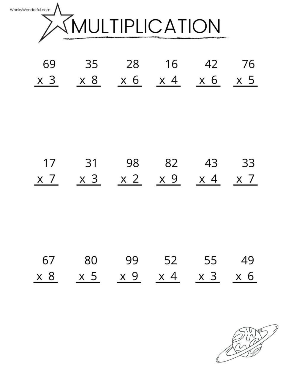 2nd Grade Multiplication Worksheets Free Printable Multiplication Worksheets Wonkywonderful