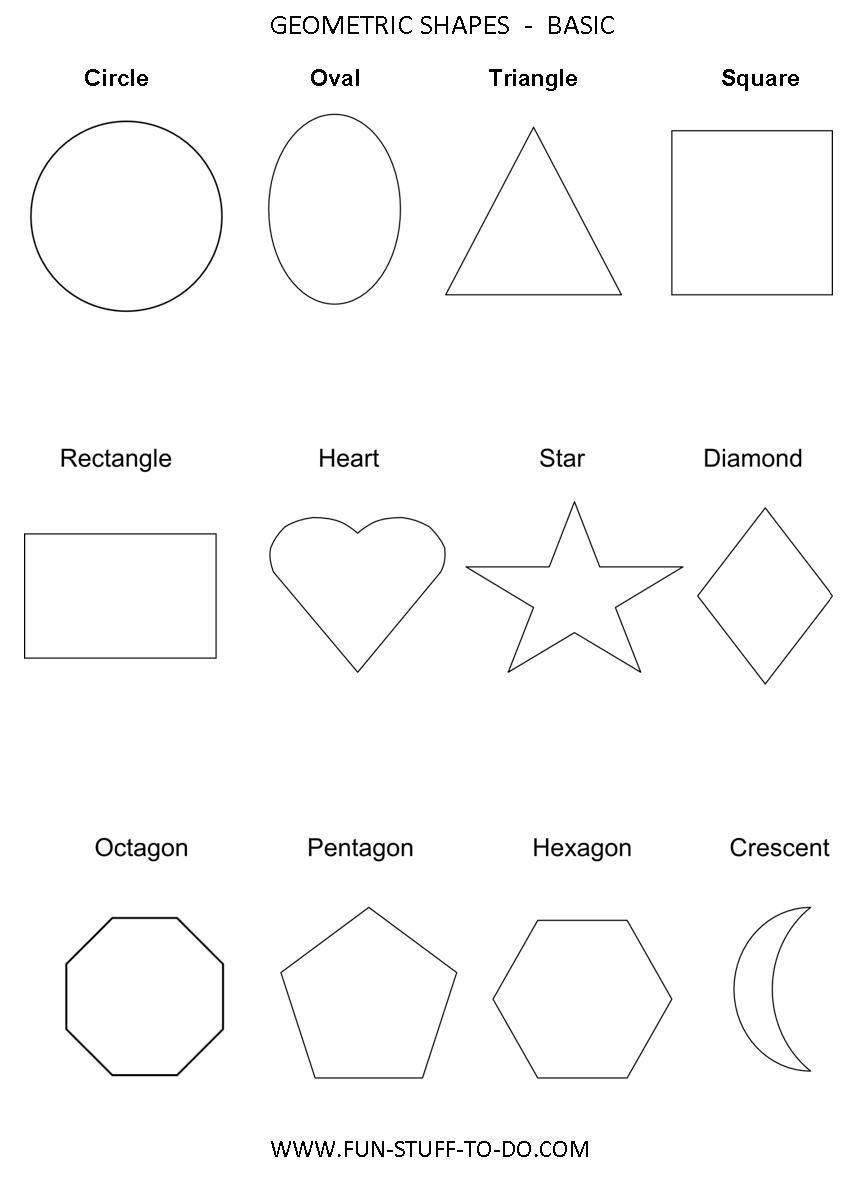 3d Shapes Worksheets 2nd Grade Geometric Shapes Worksheets Free to Print