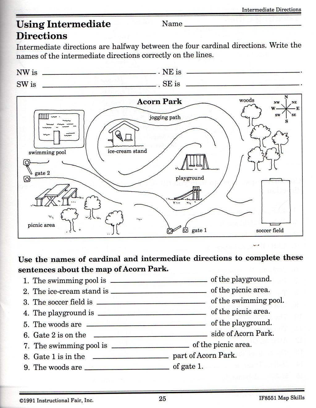 3rd Grade Map Skills Worksheets Map Skills Worksheets for Print Map Skills Worksheets