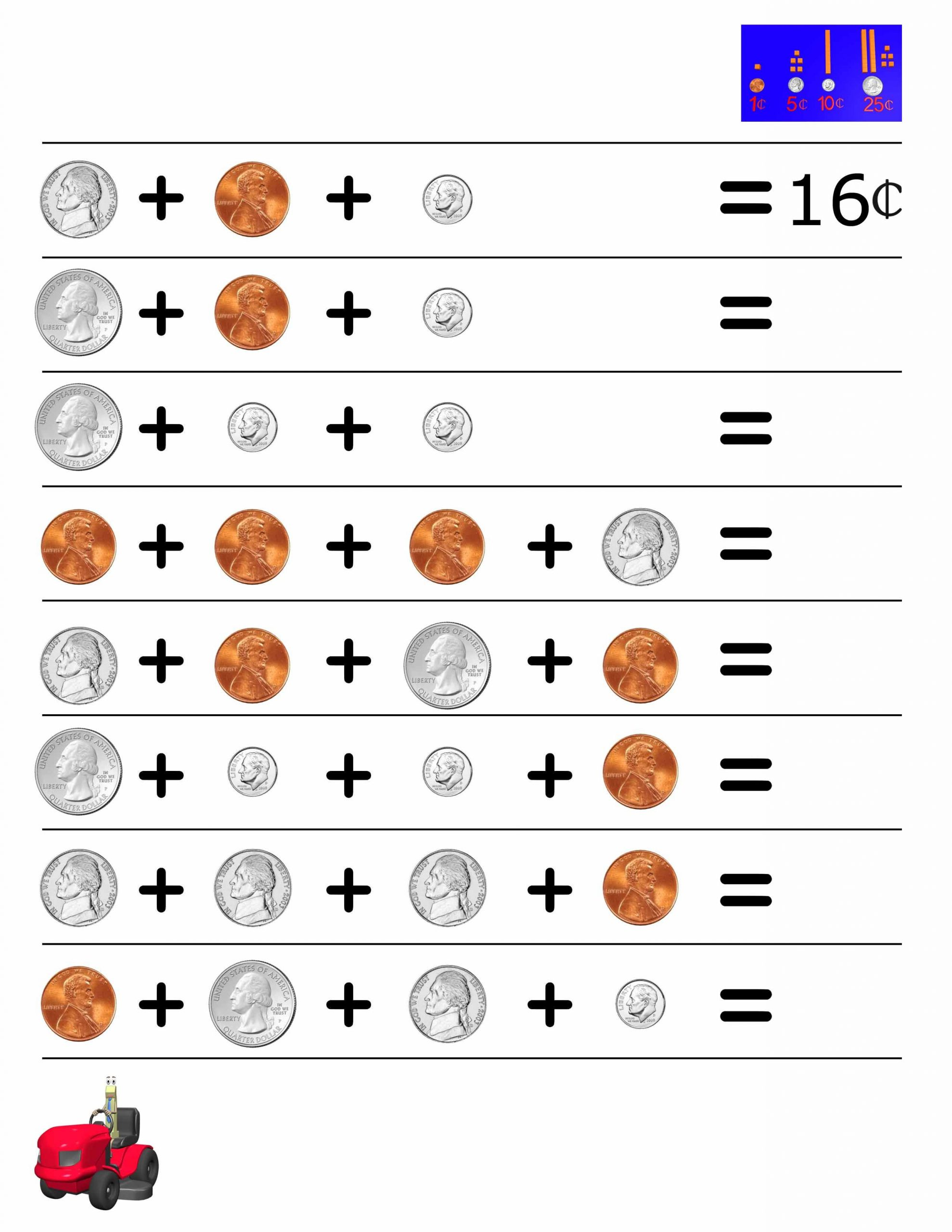 3rd Grade Money Worksheets Money Worksheet for 2nd Grade Our Videos Help Reinforce